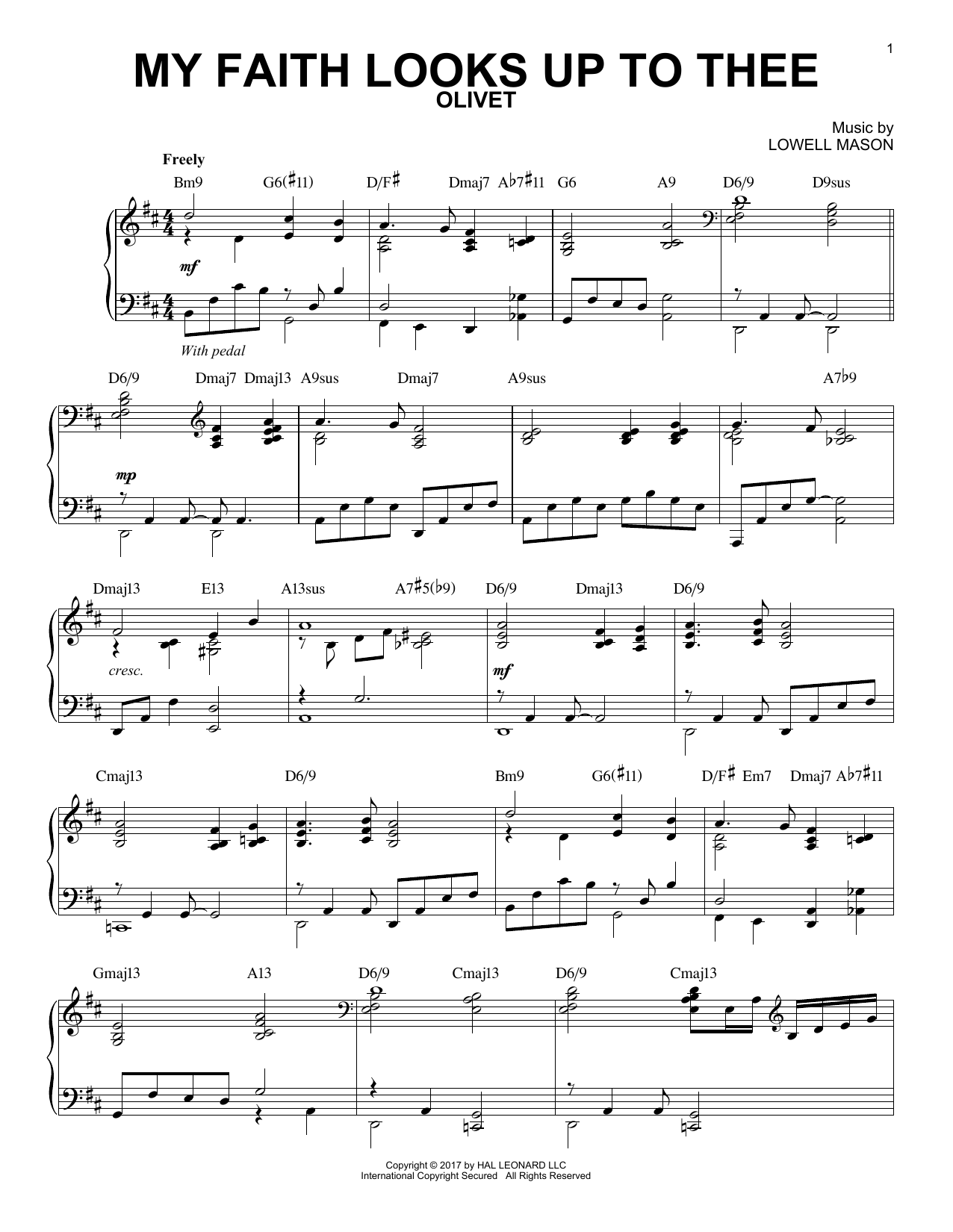 My Faith Looks Up To Thee [Jazz version] (Piano Solo)