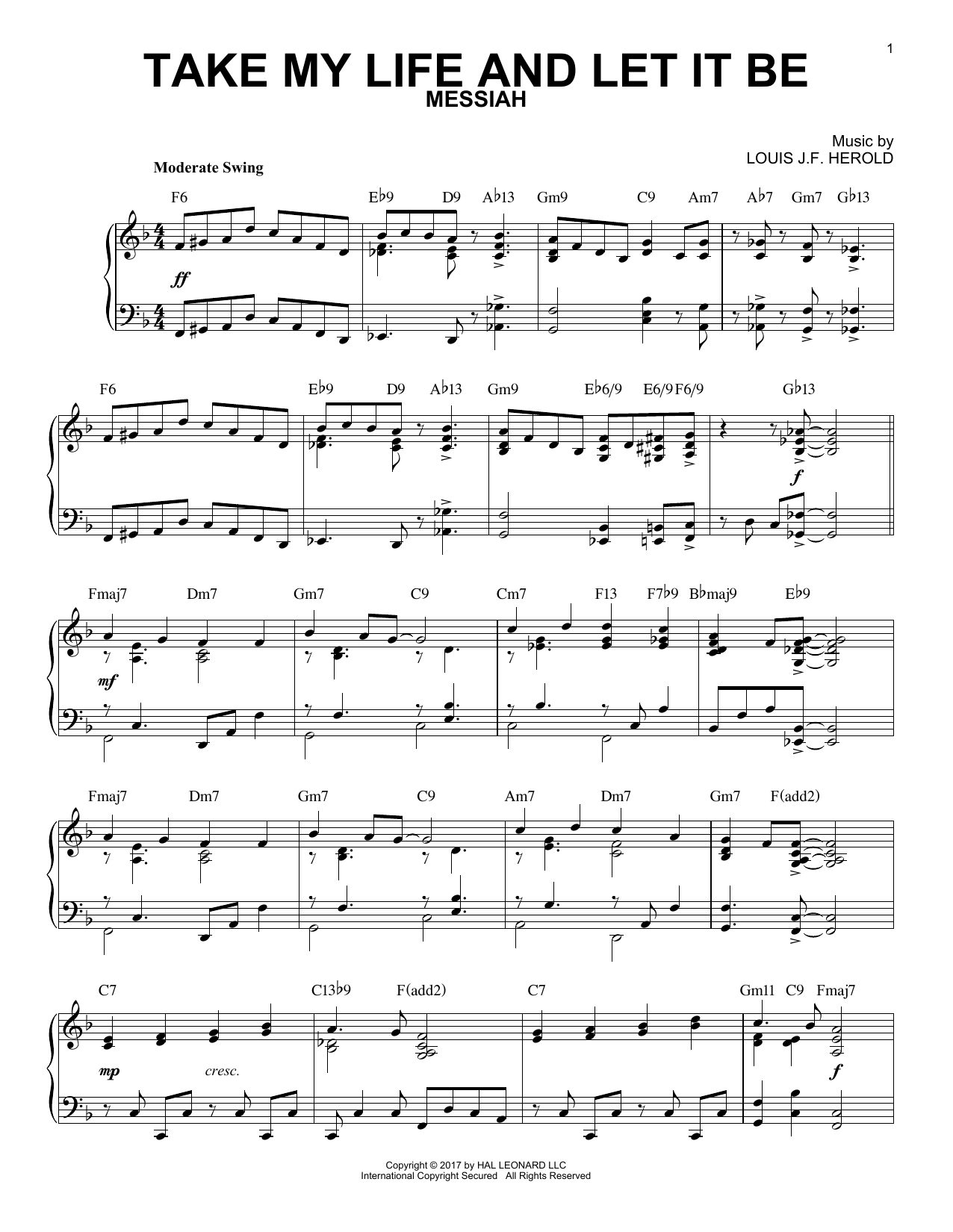Take My Life And Let It Be [Jazz version] (Piano Solo)