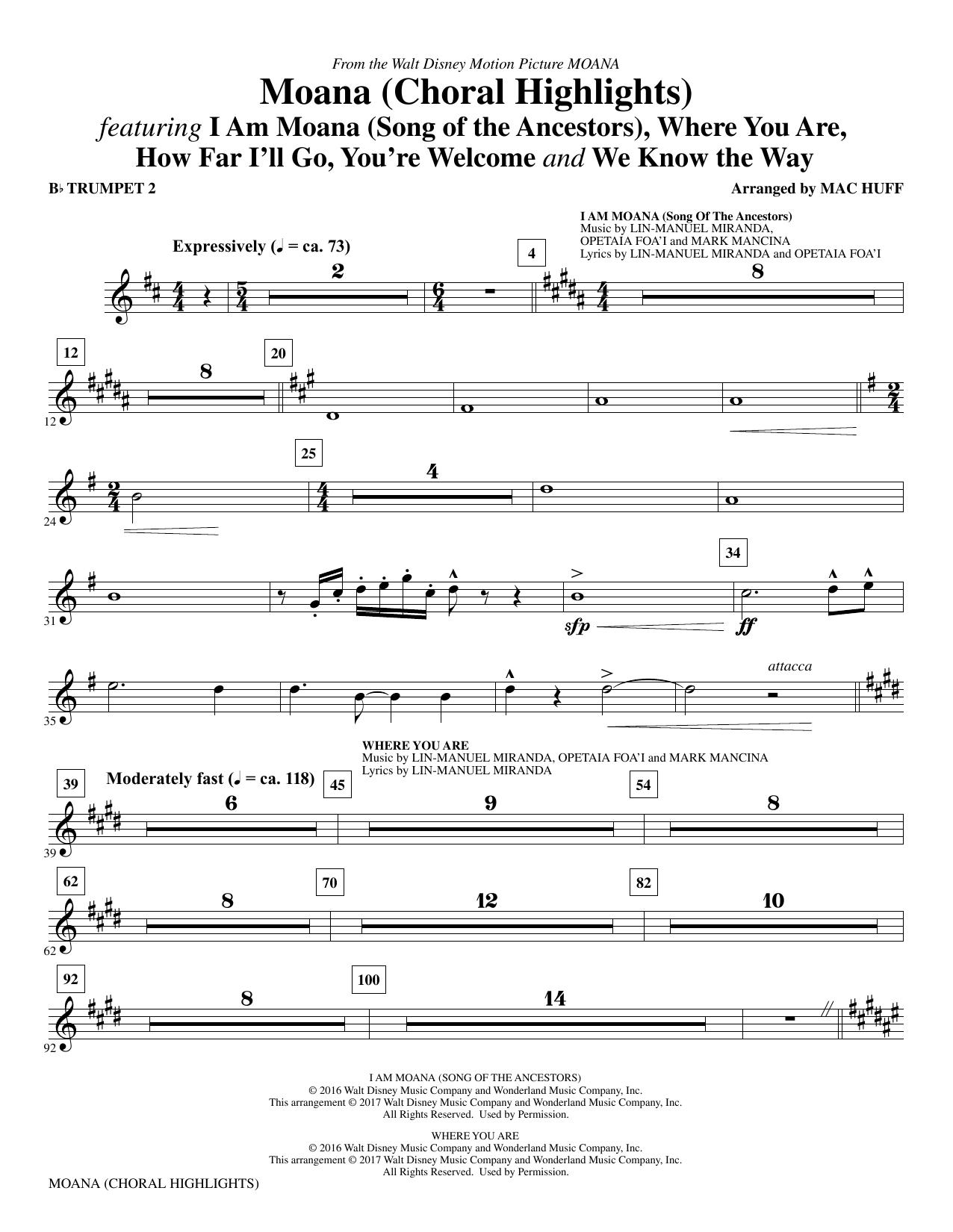 Moana - Bb Trumpet 2 (Choir Instrumental Pak)