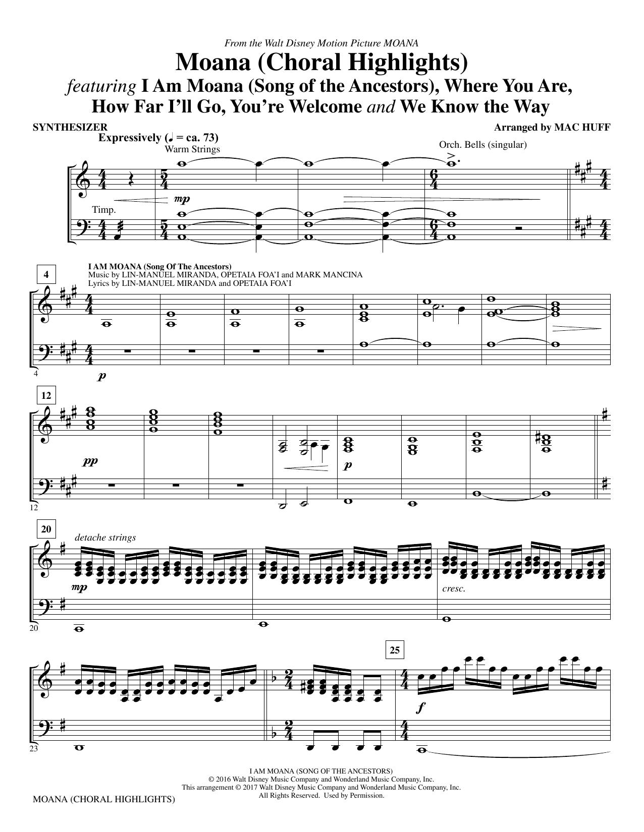 Moana - Synthesizer (Choir Instrumental Pak)
