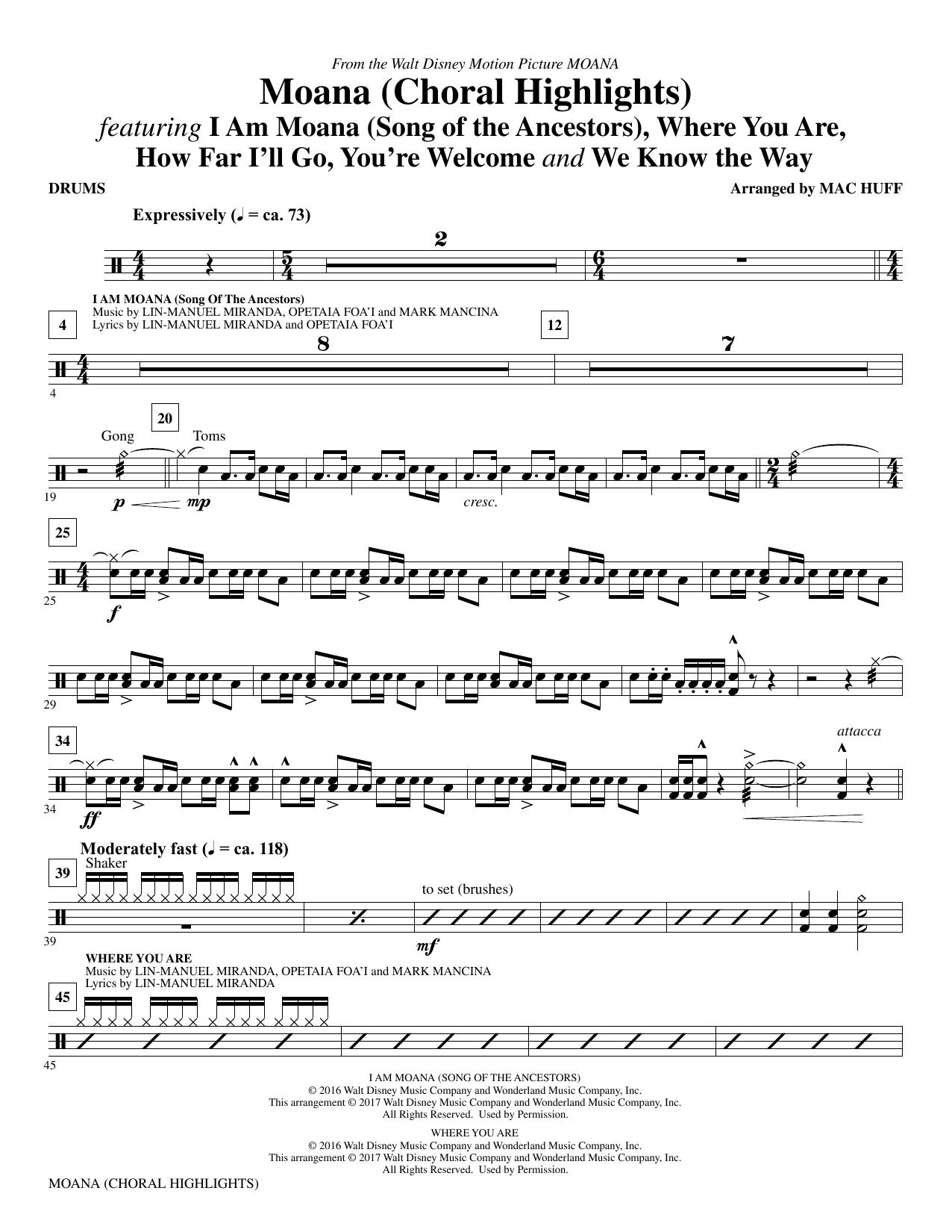 Moana - Drums Sheet Music