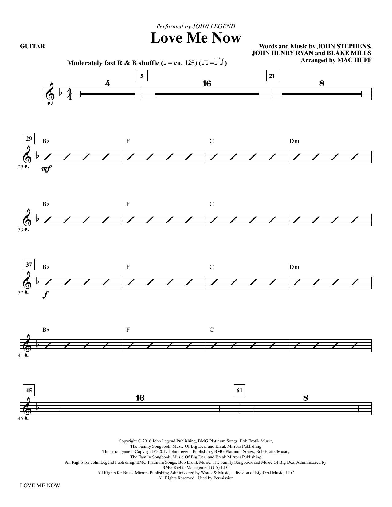 Love Me Now - Guitar Sheet Music