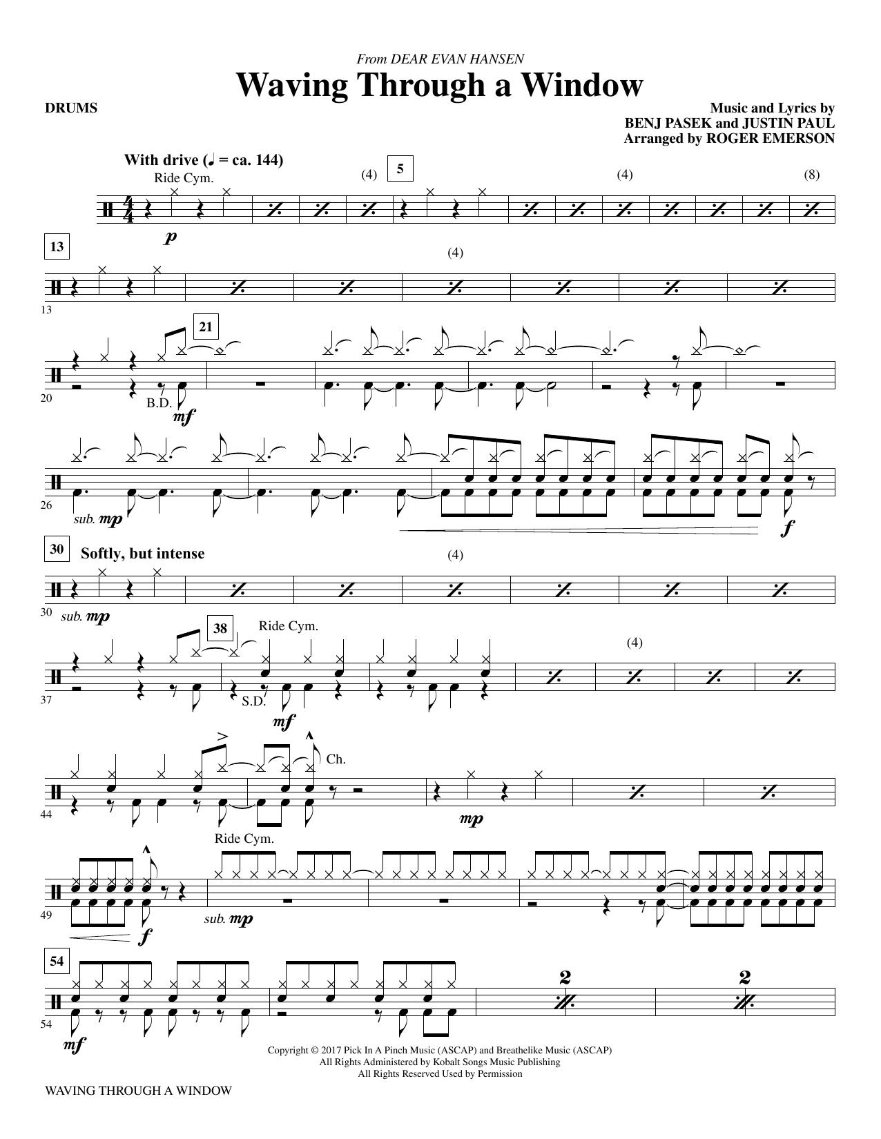 Waving Through a Window - Drums Partituras Digitales