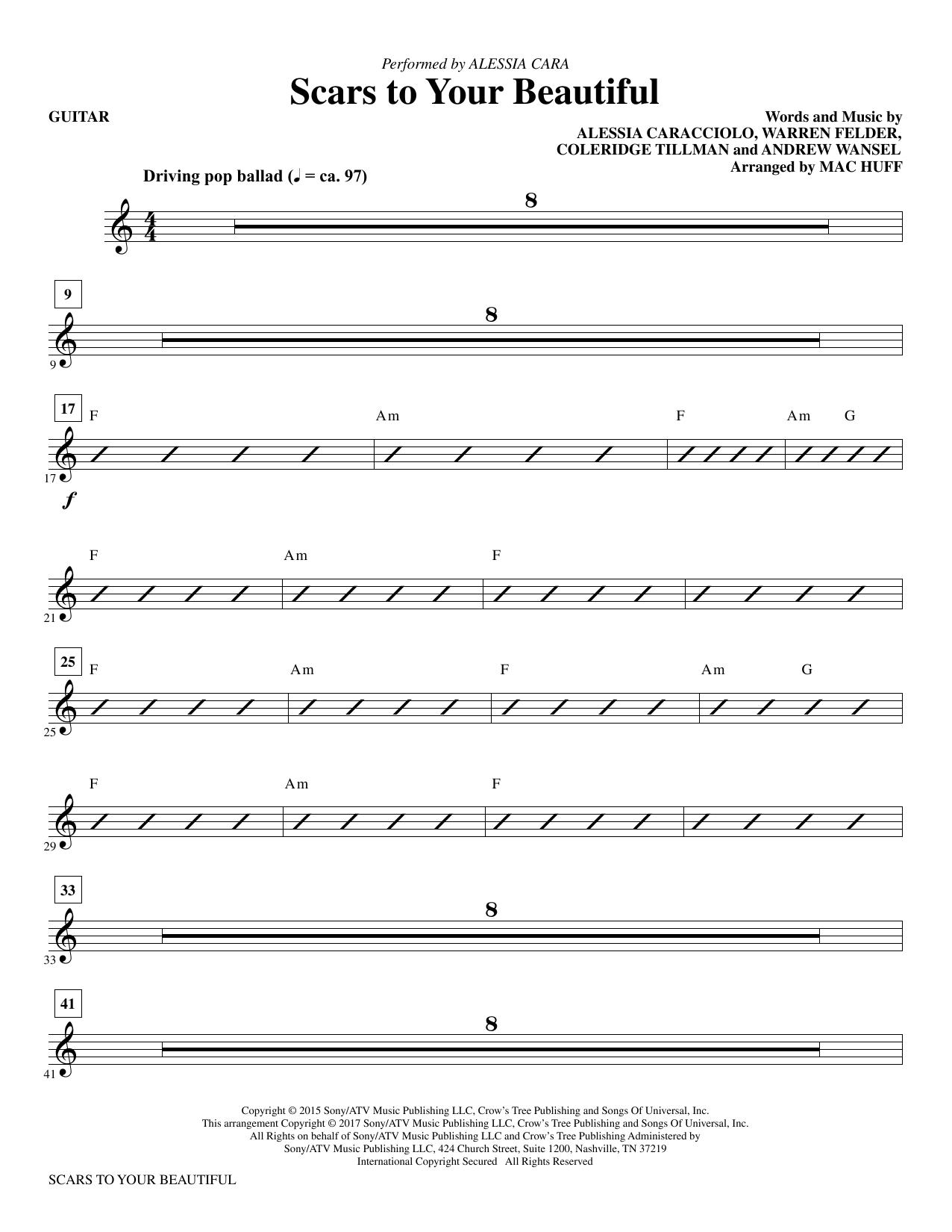 Scars to Your Beautiful - Guitar Sheet Music