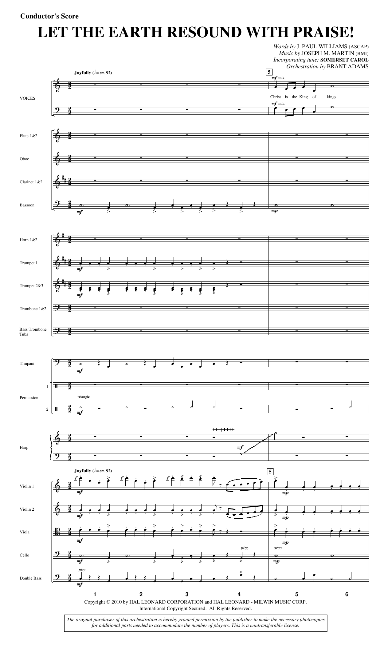 Let The Earth Resound with Praise! - Full Score Sheet Music