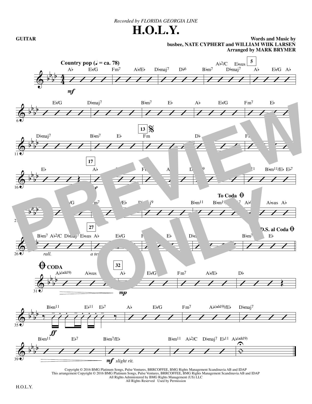 H.O.L.Y. - Guitar Sheet Music