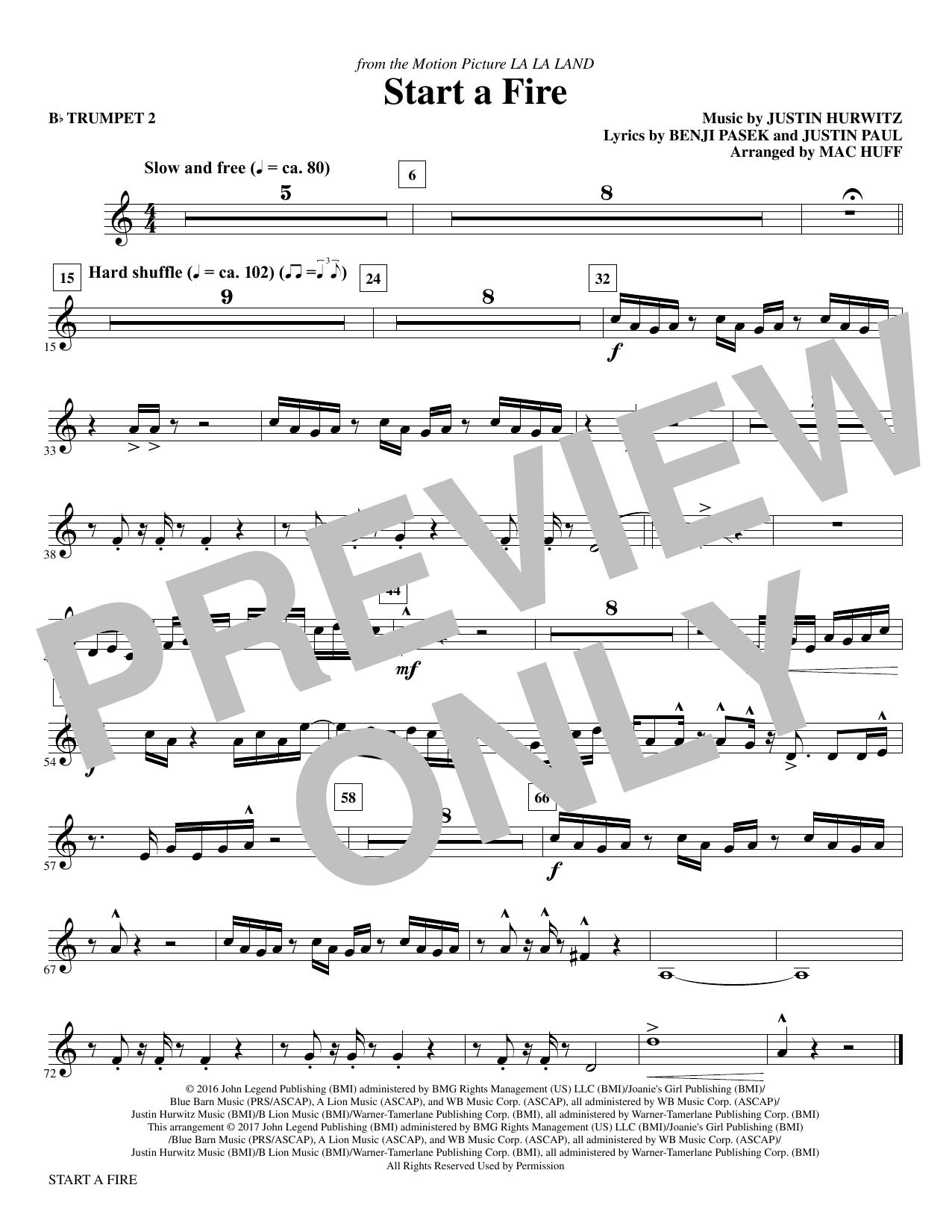 Start a Fire - Bb Trumpet 2 Sheet Music