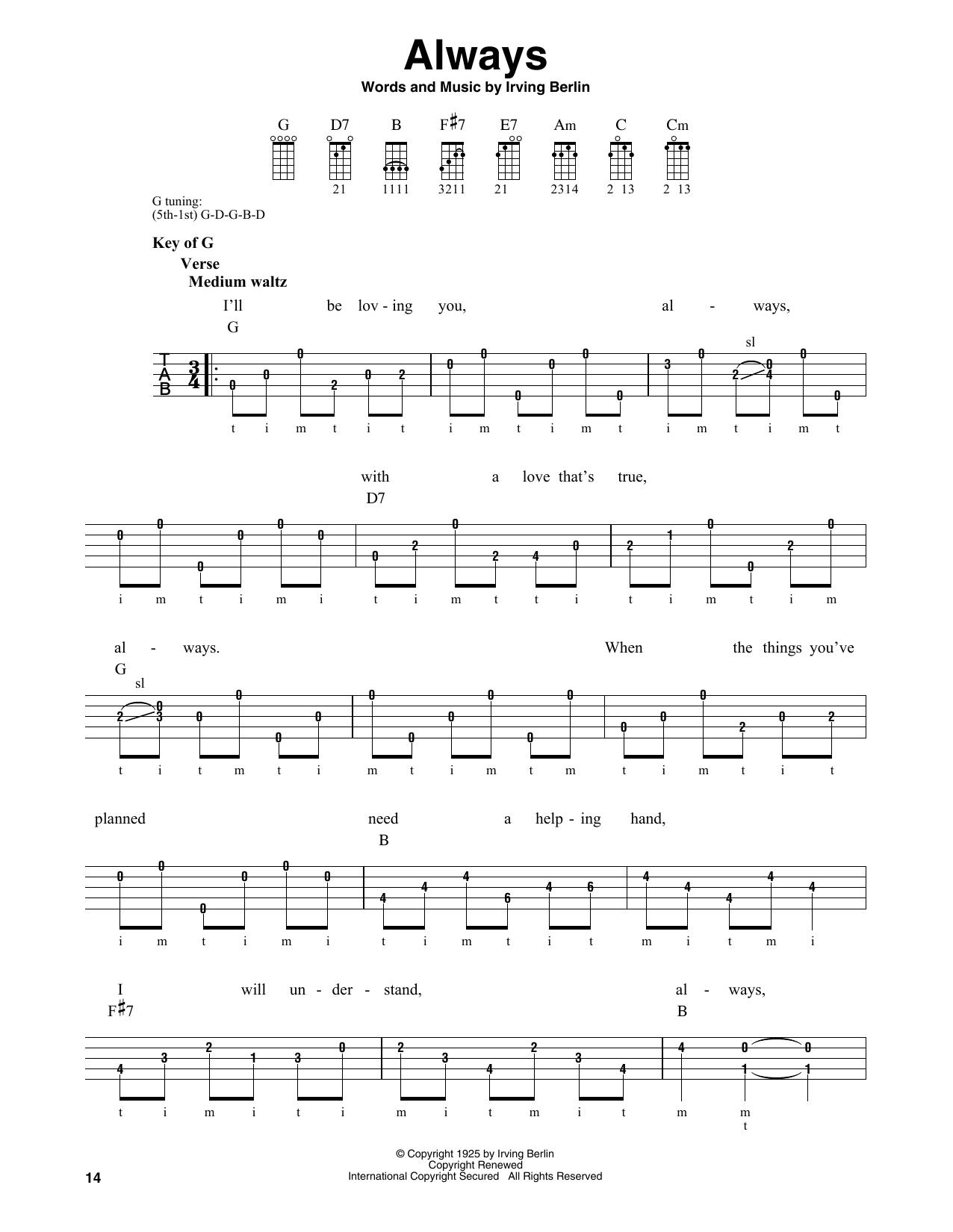 Always (Banjo Tab)