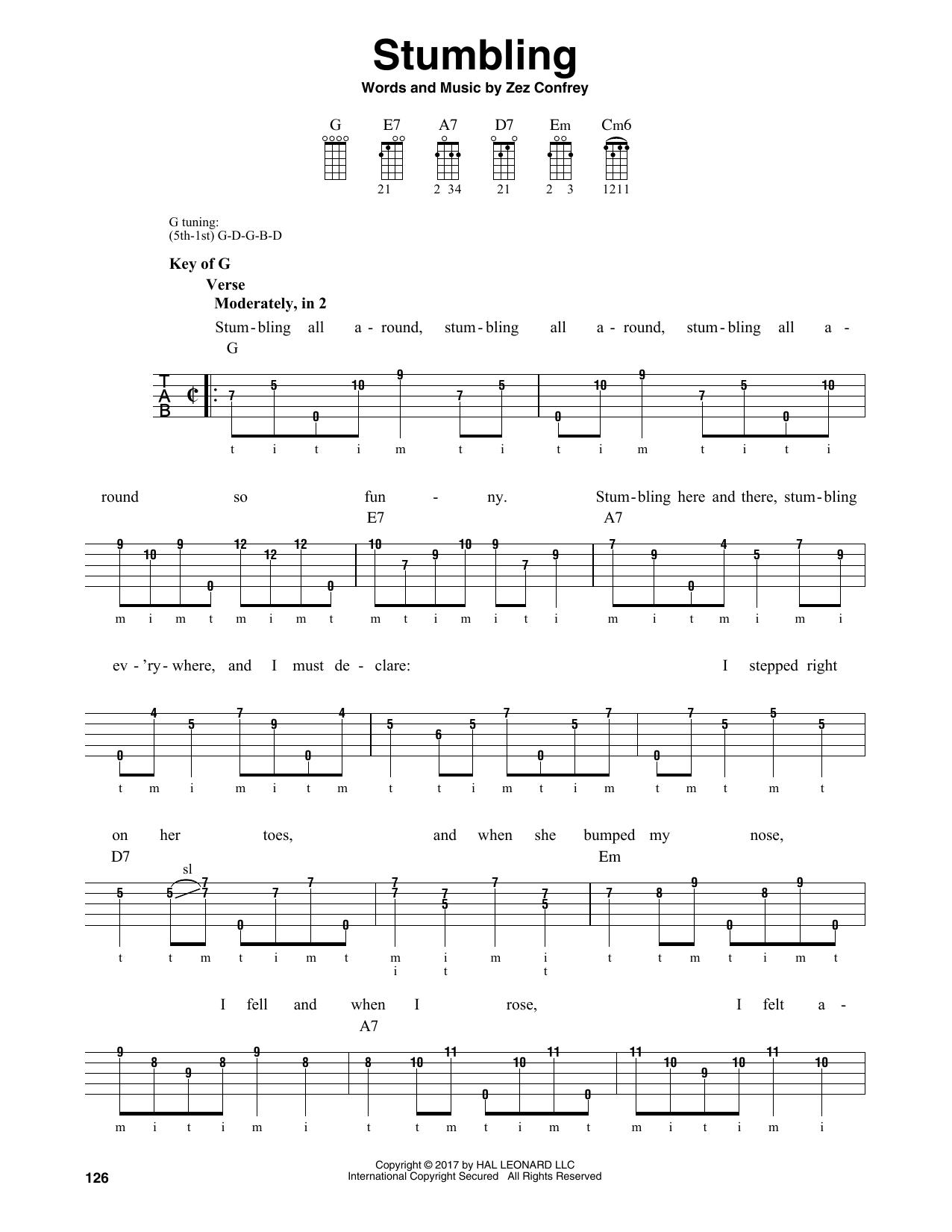Stumbling (Banjo Tab)