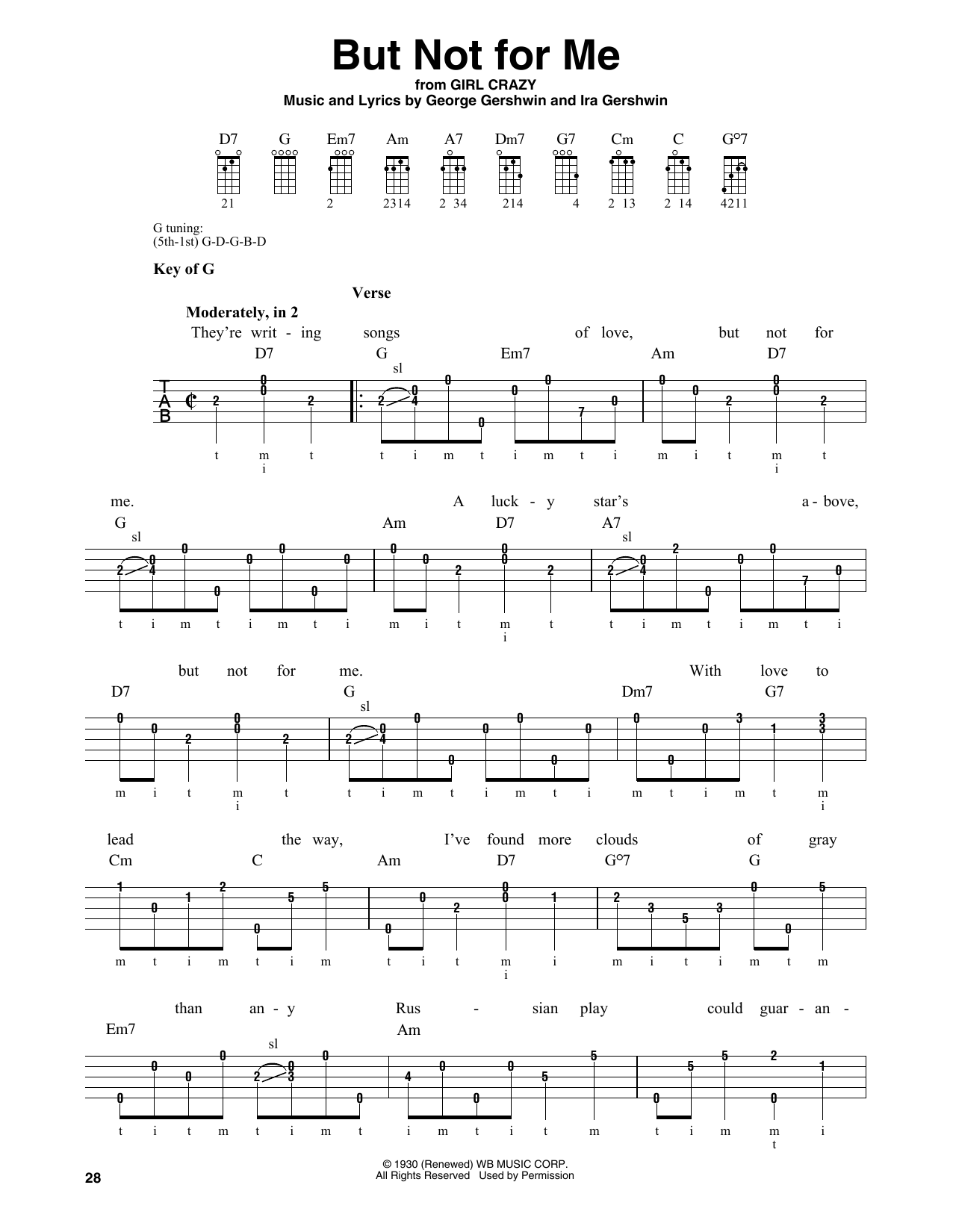 But Not For Me (Banjo Tab)