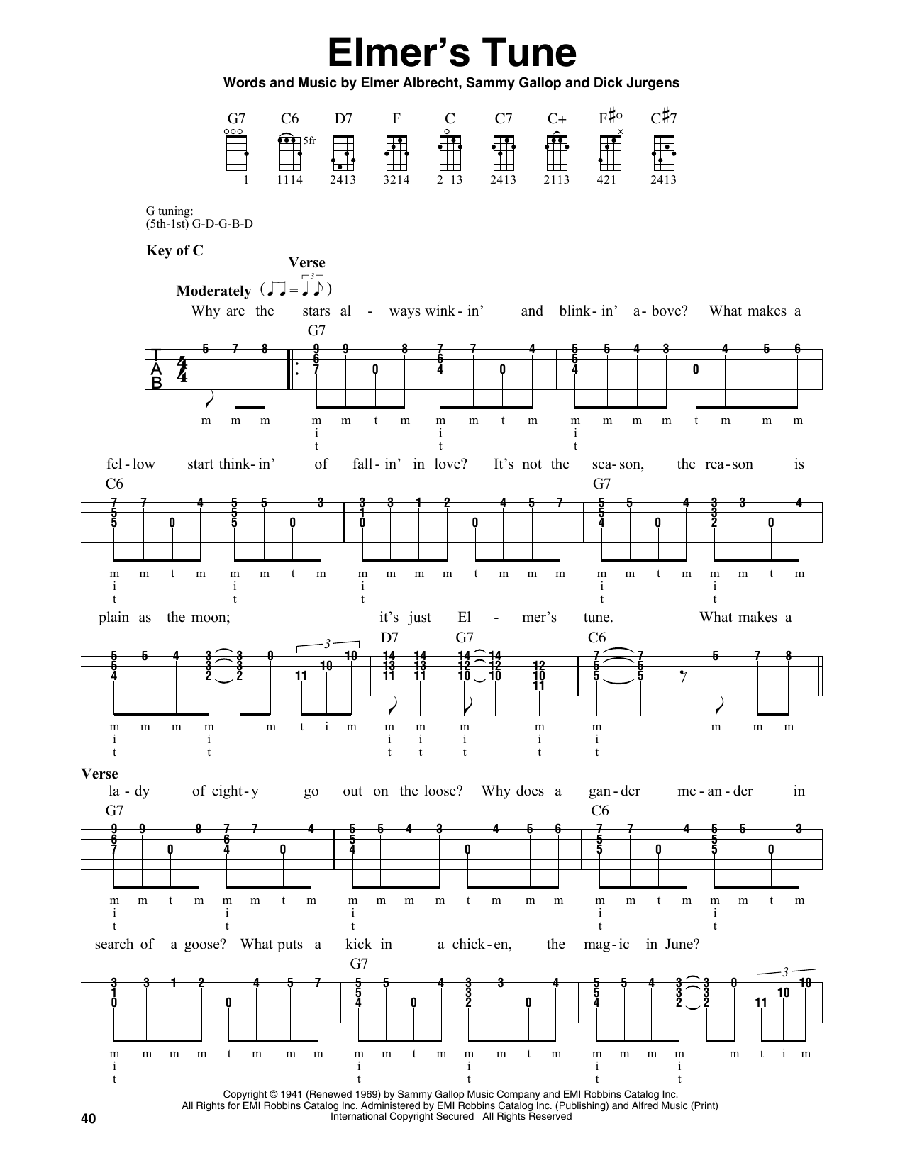 Elmer's Tune (Banjo Tab)