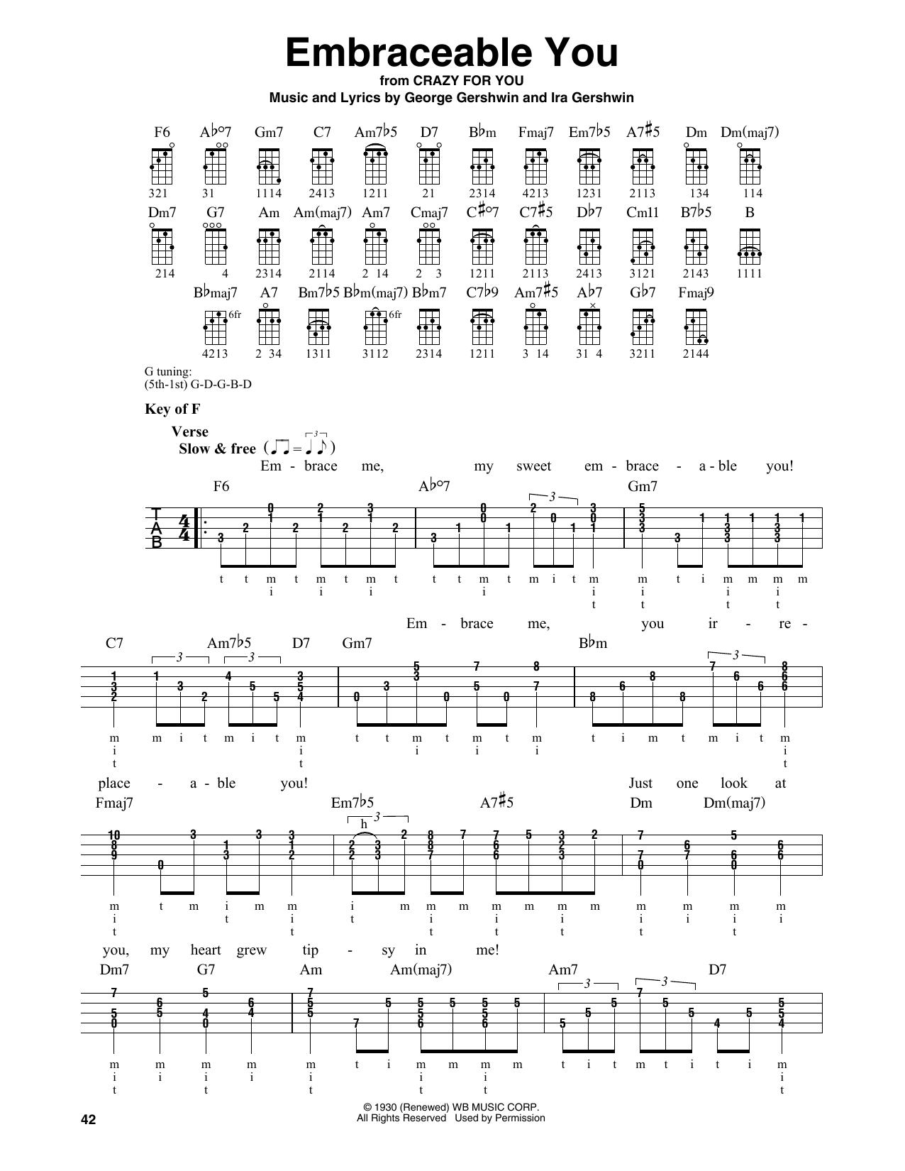 Embraceable You (Banjo Tab)