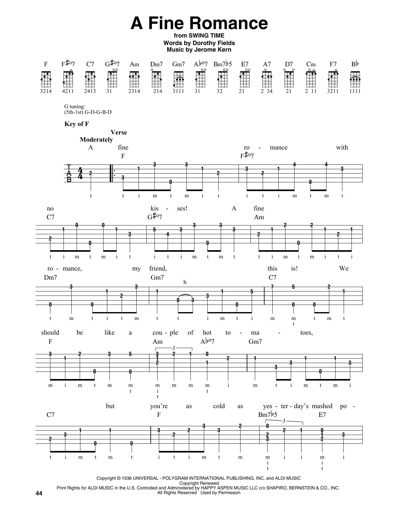 A Fine Romance (Banjo Tab)