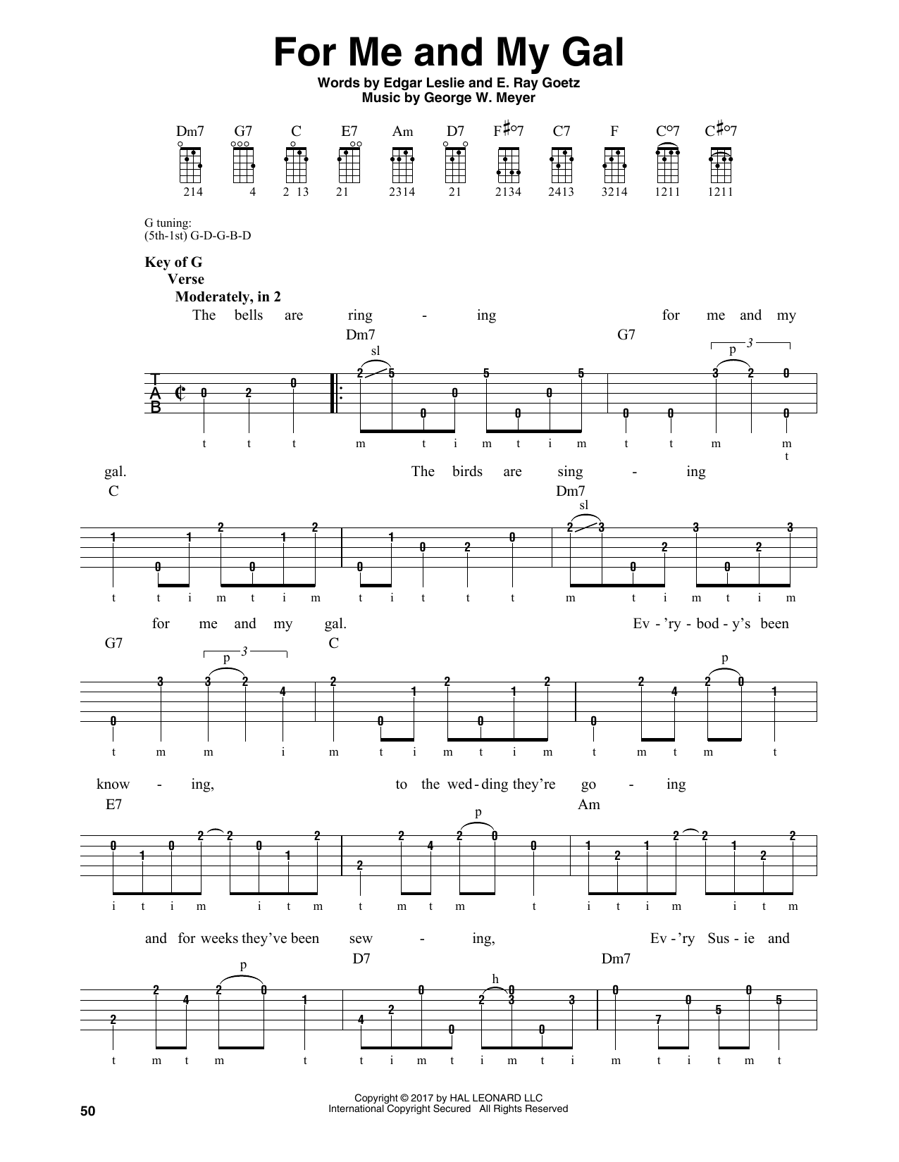 For Me And My Gal (Banjo Tab)