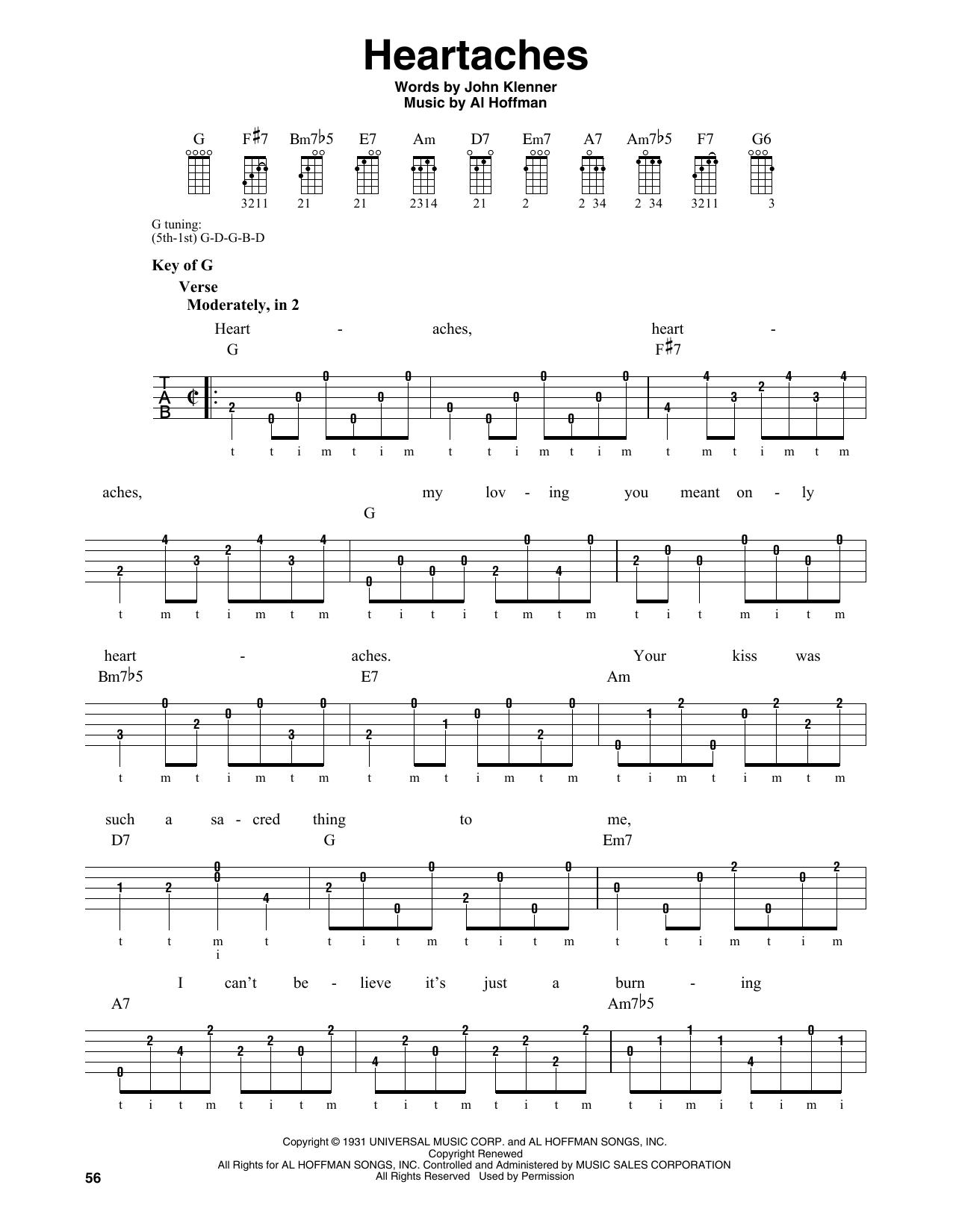 Heartaches (Banjo Tab)