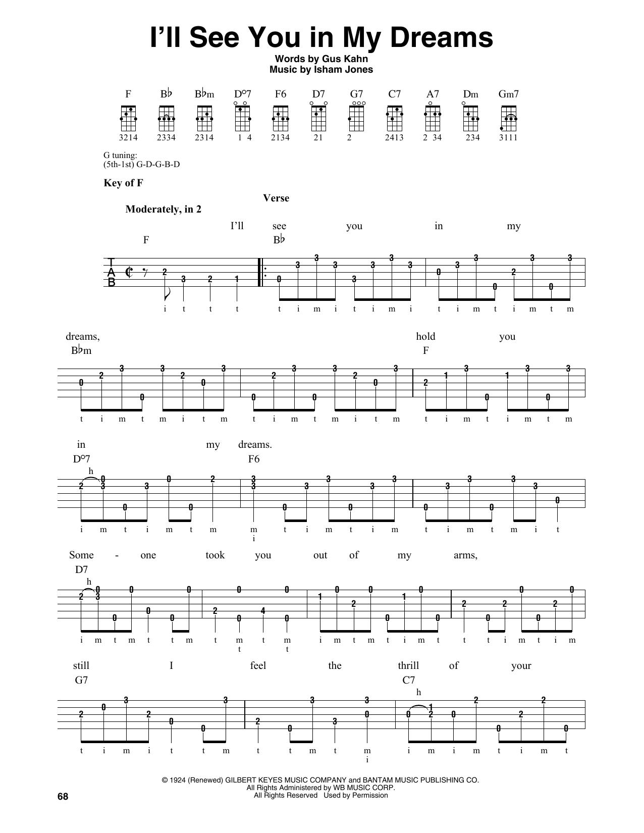 I'll See You In My Dreams (Banjo Tab)