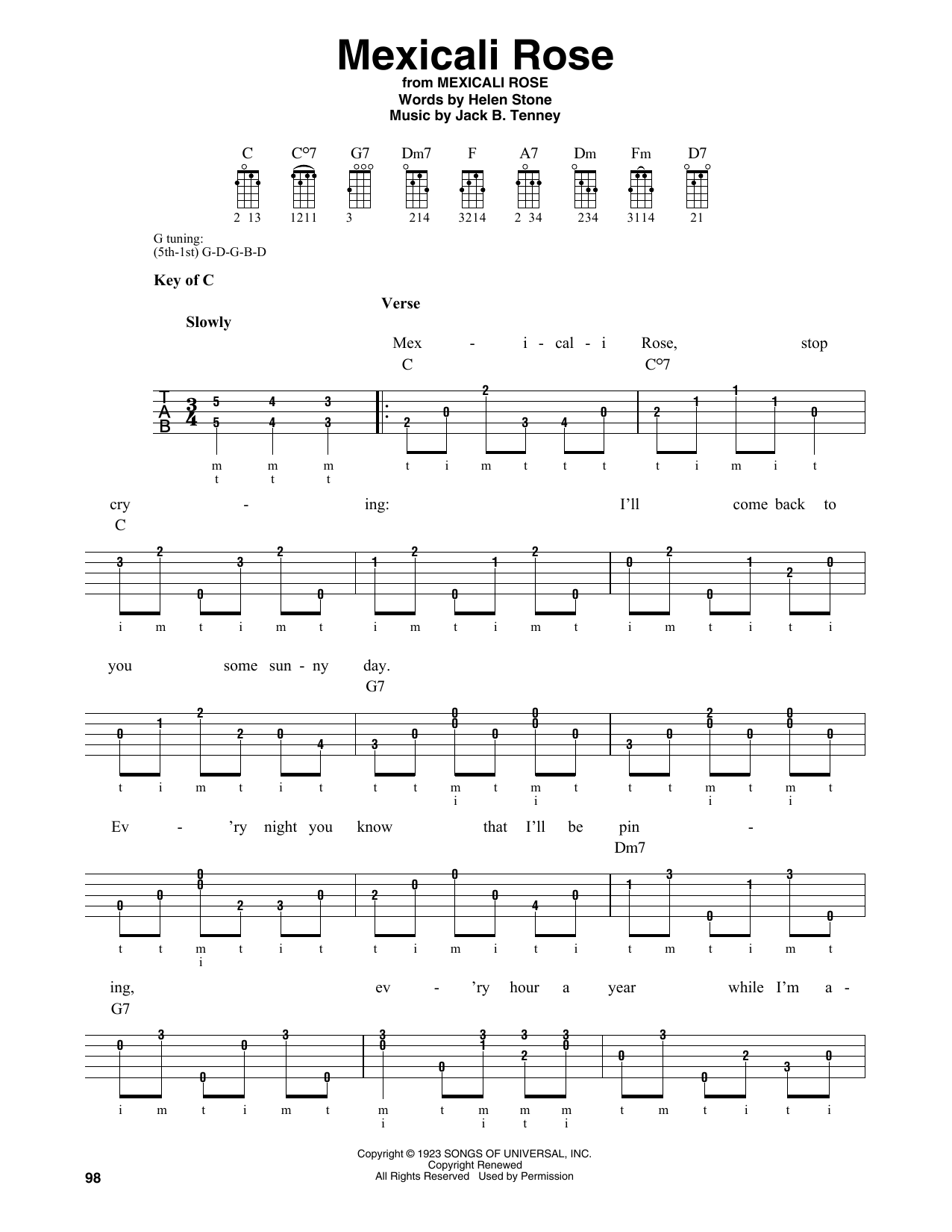 Mexicali Rose Sheet Music