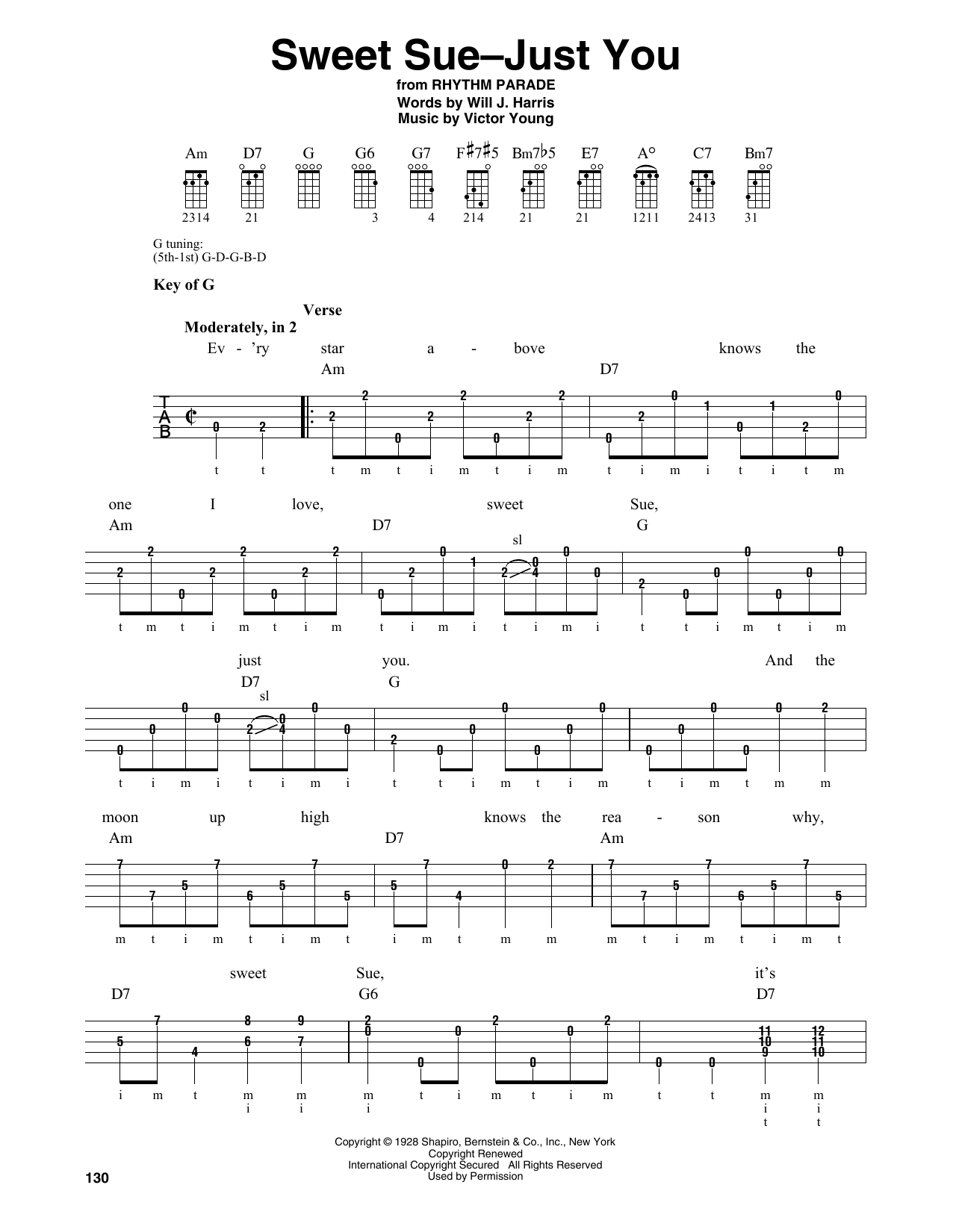 Sweet Sue-Just You (Banjo Tab)