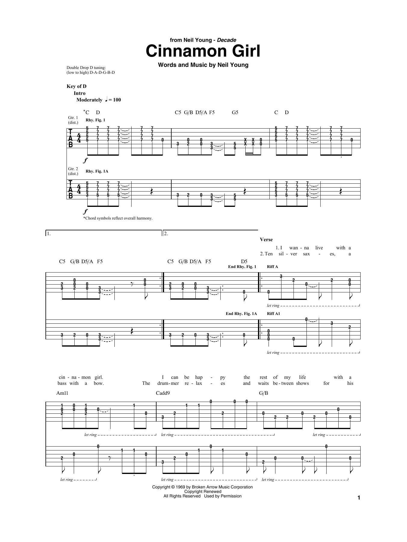 Neil young guitar chords