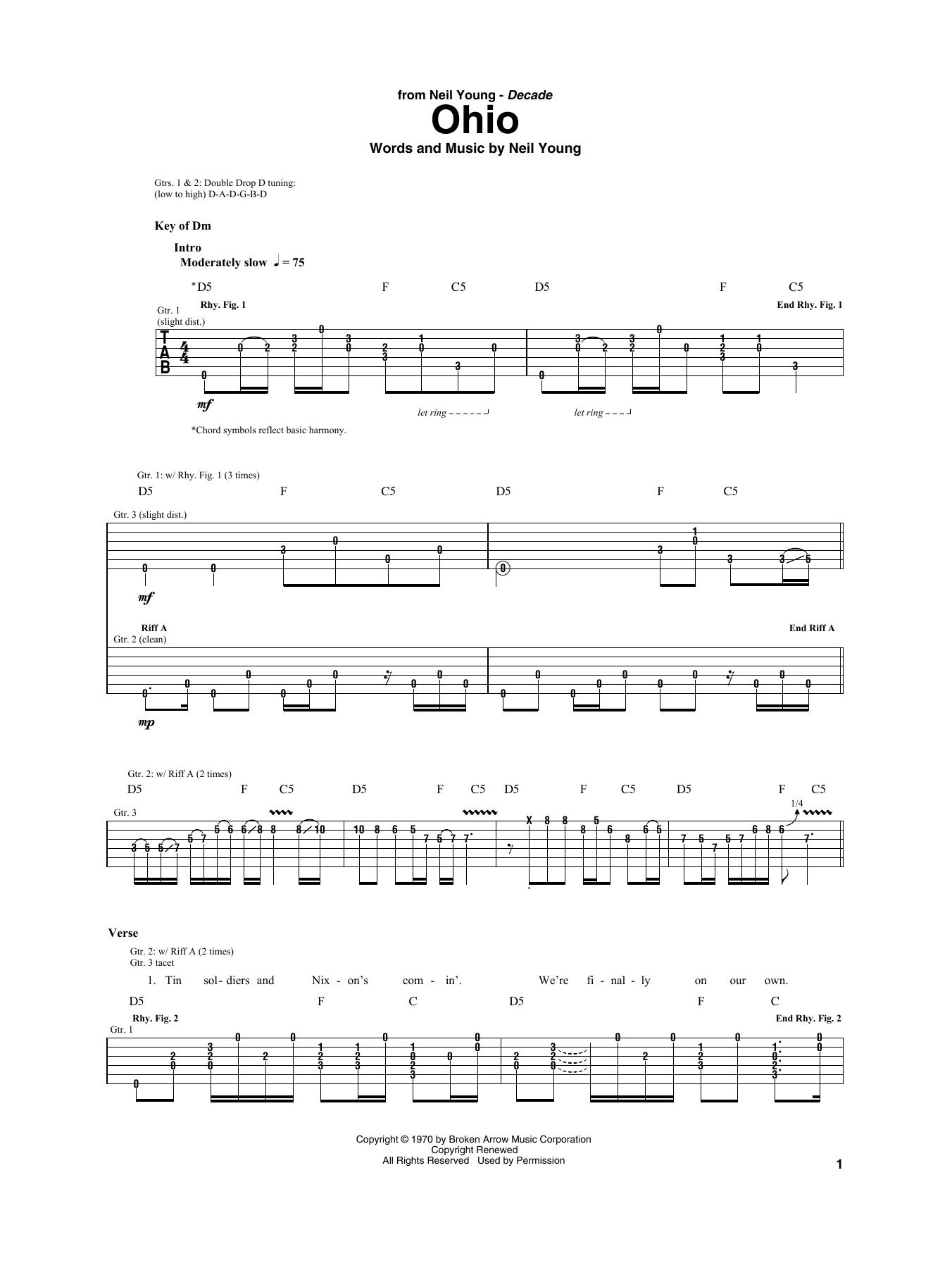 Ohio Sheet Music