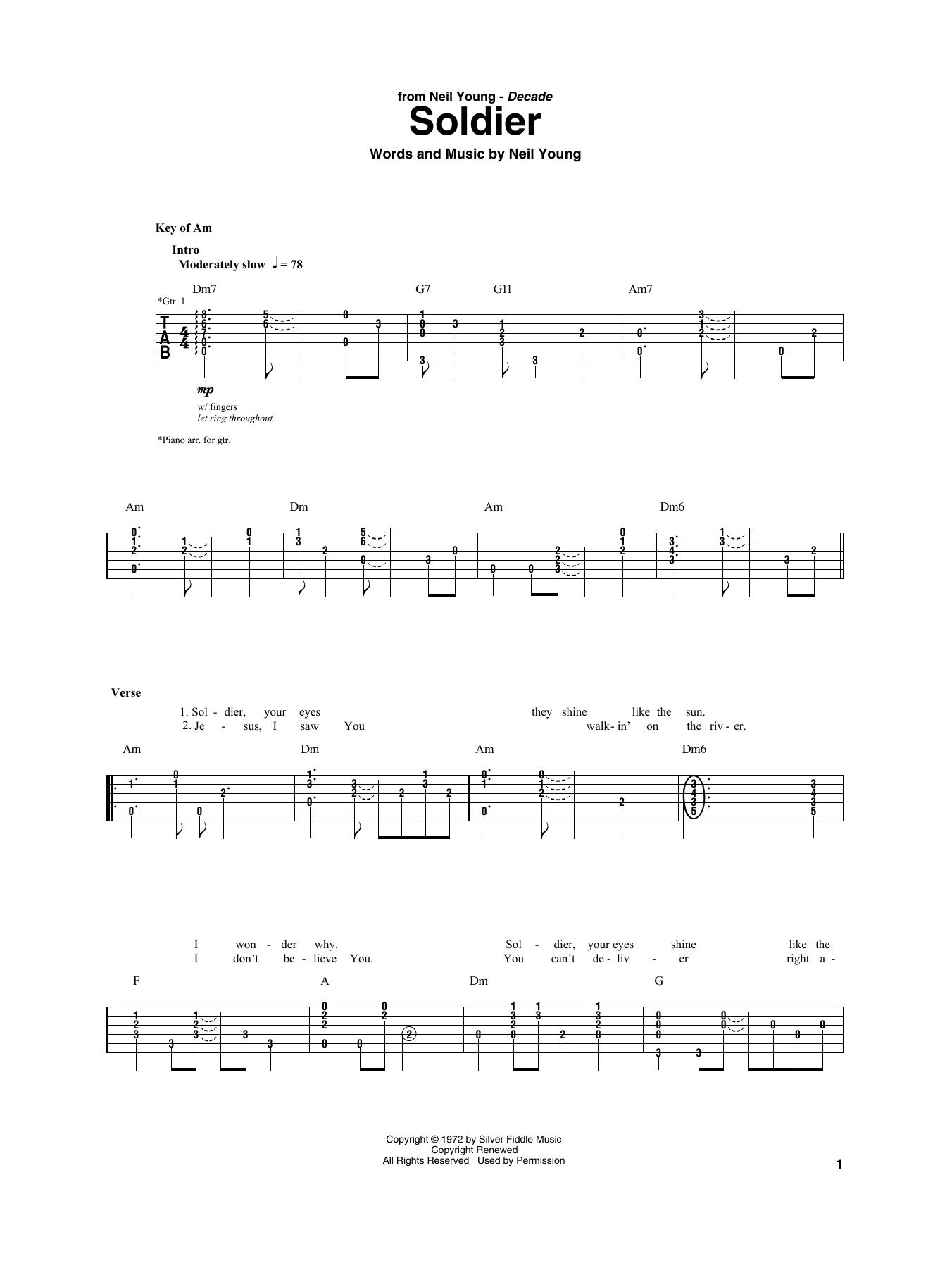 Soldier Sheet Music