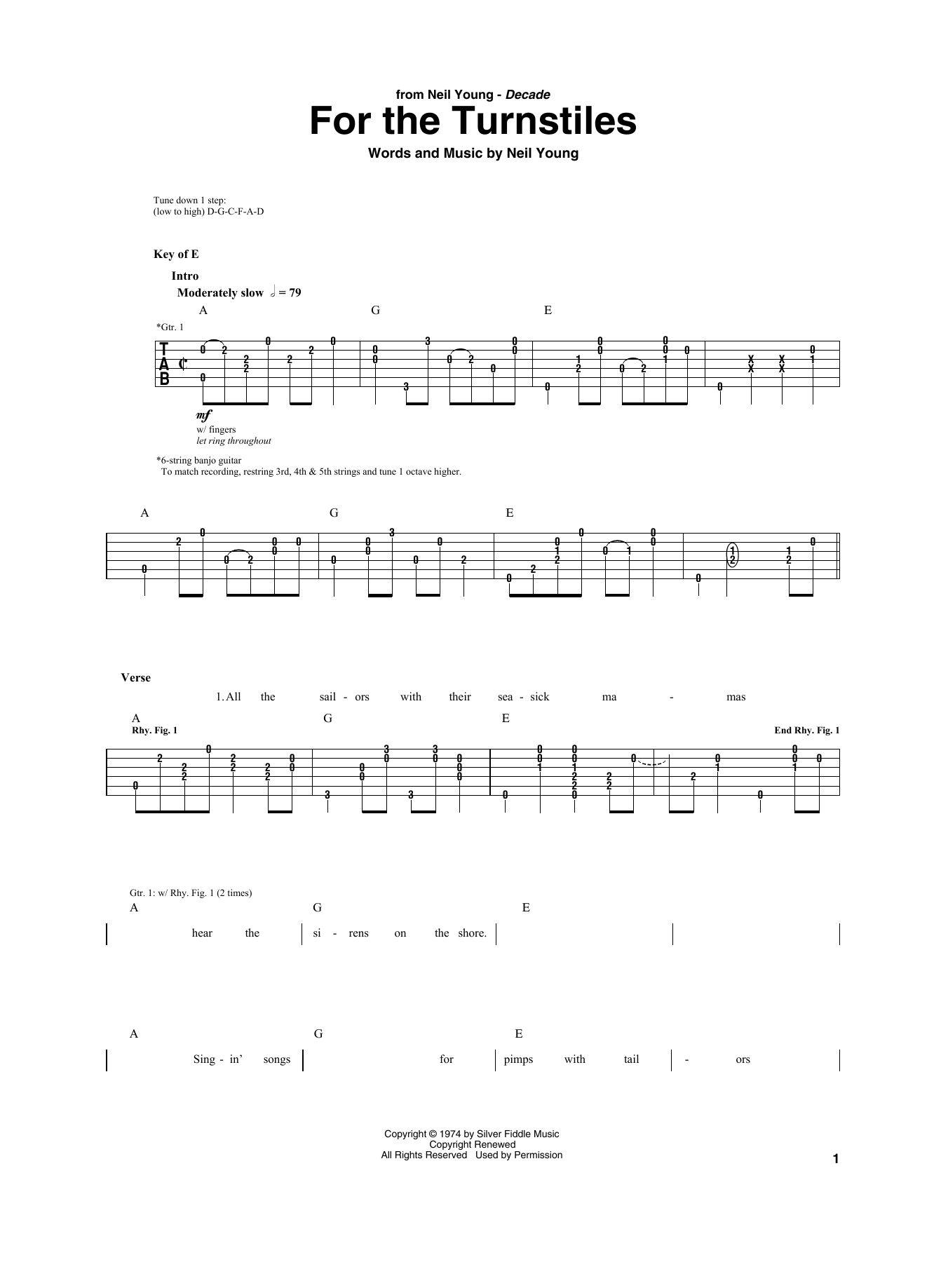 For the turnstiles by neil young guitar rhythm tab guitar the most accurate tab hexwebz Image collections