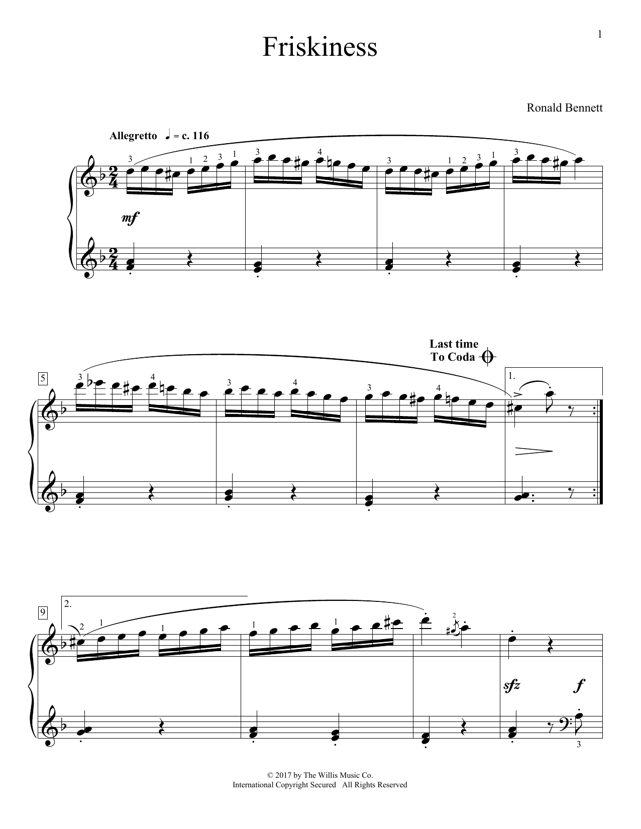 Friskiness (Educational Piano)