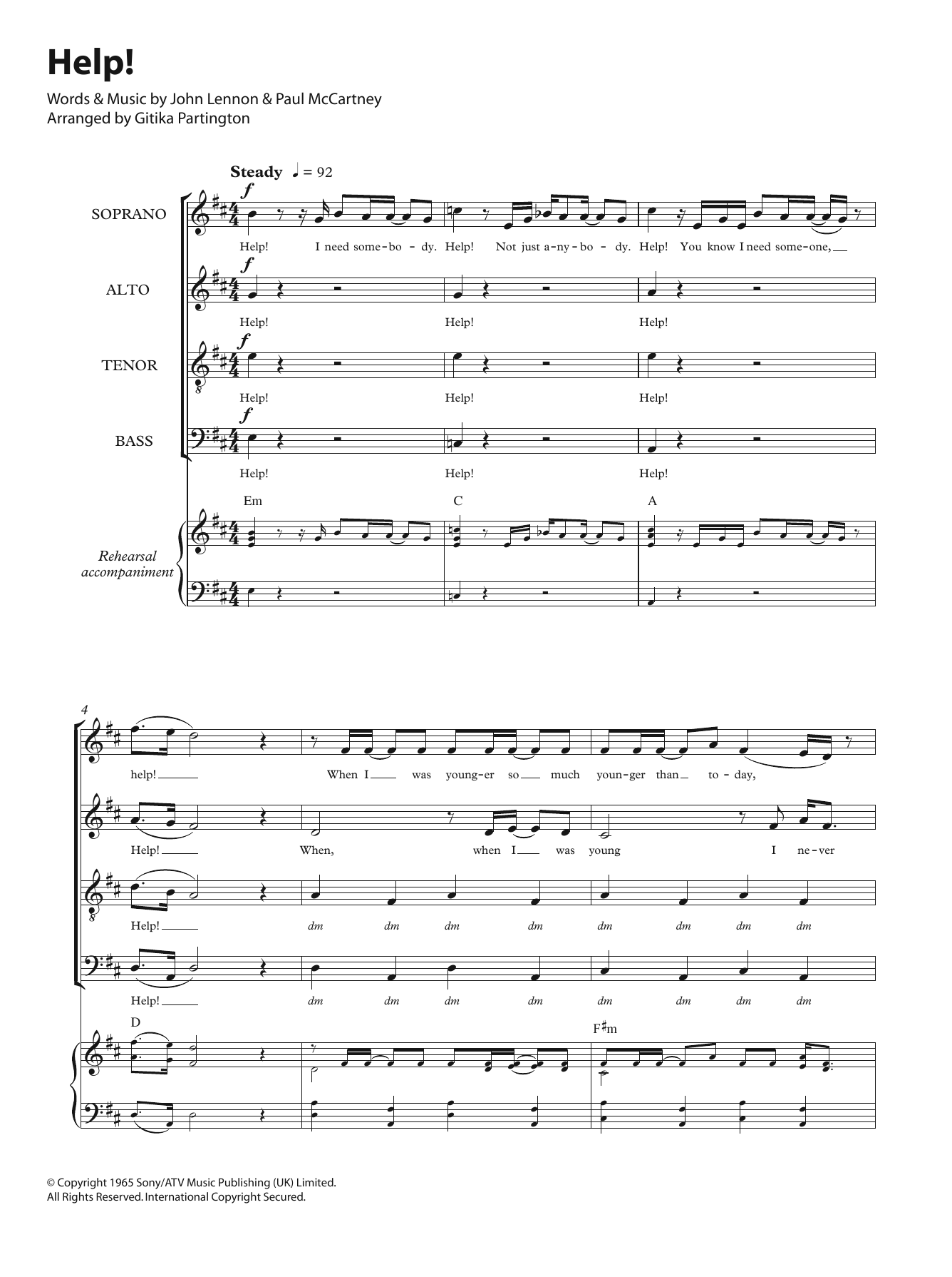 Help! (arr. Gitika Partington) Sheet Music