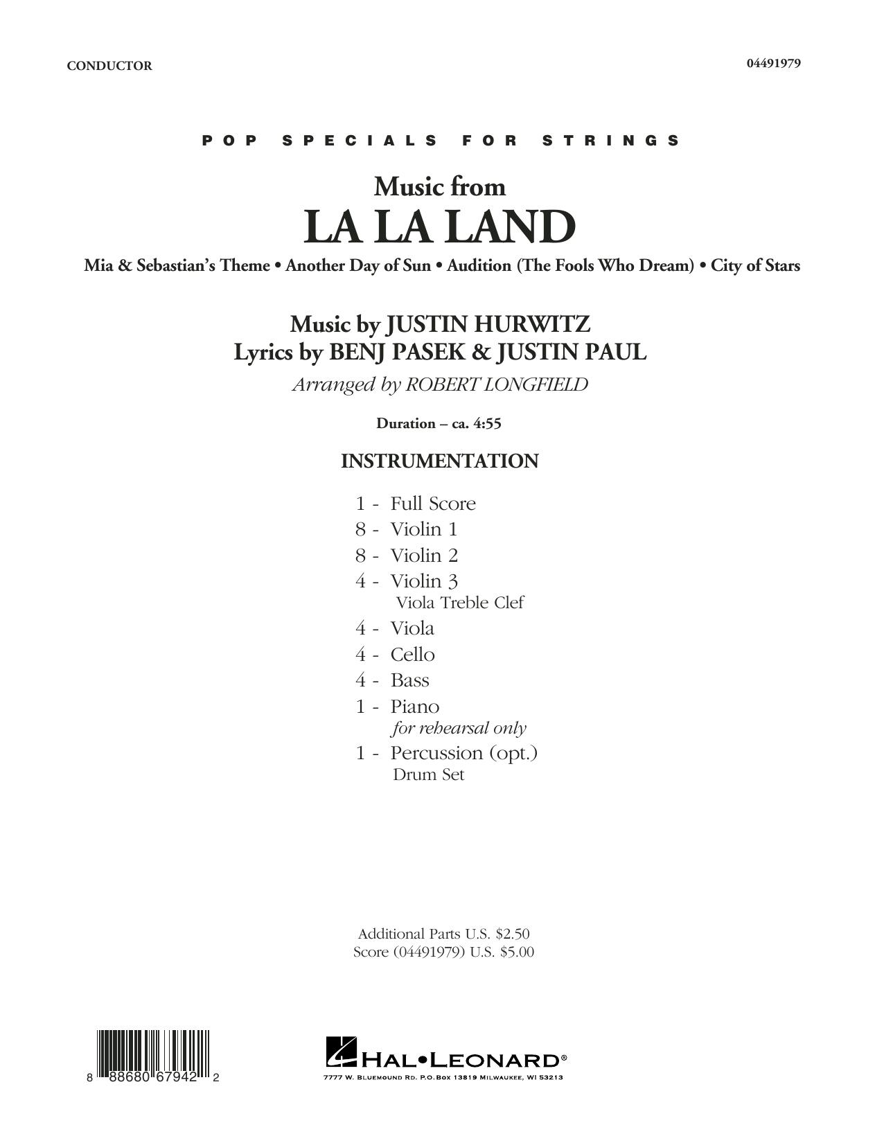 Music from La La Land - Conductor Score (Full Score) Sheet Music