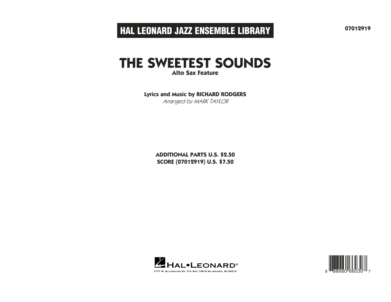 The Sweetest Sounds (Alto Sax Feature) - Conductor Score (Full Score) Sheet Music
