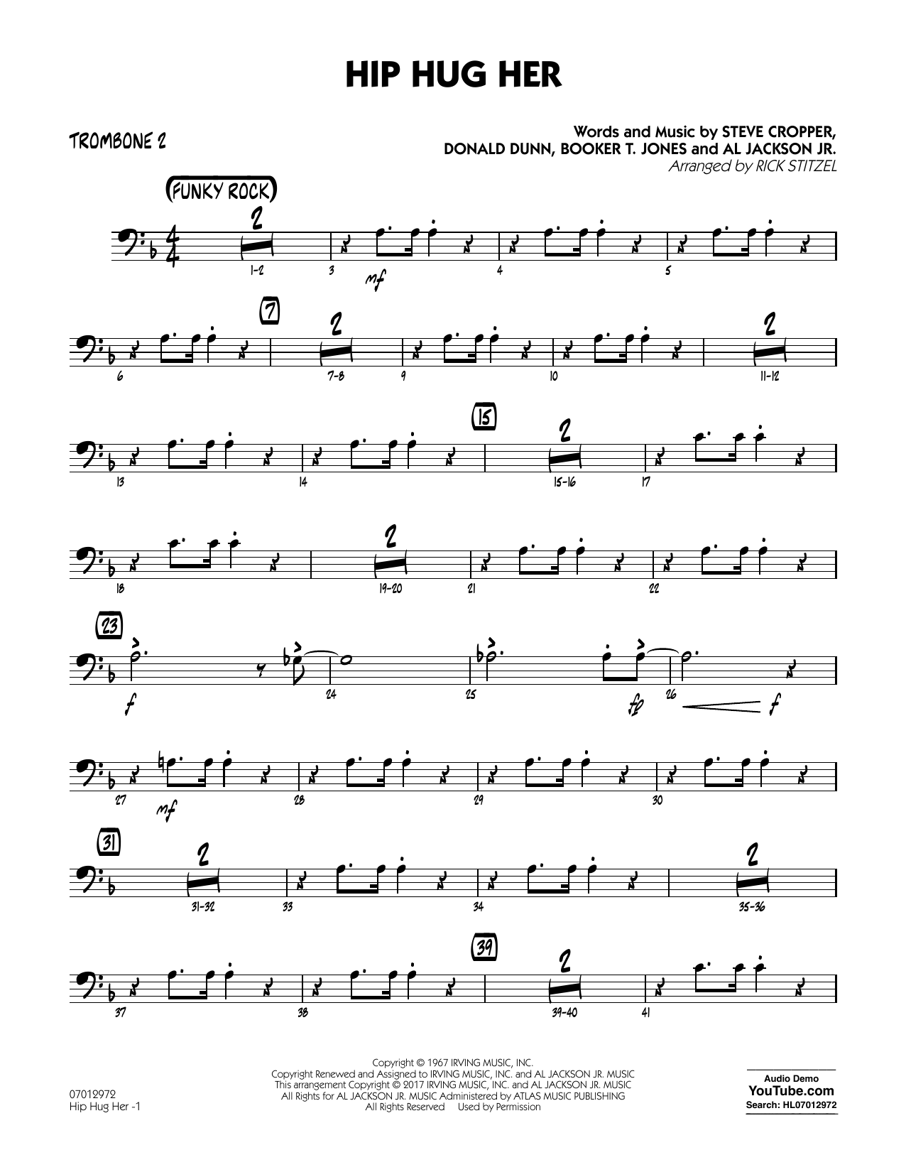 Hip Hug Her - Trombone 2 Sheet Music
