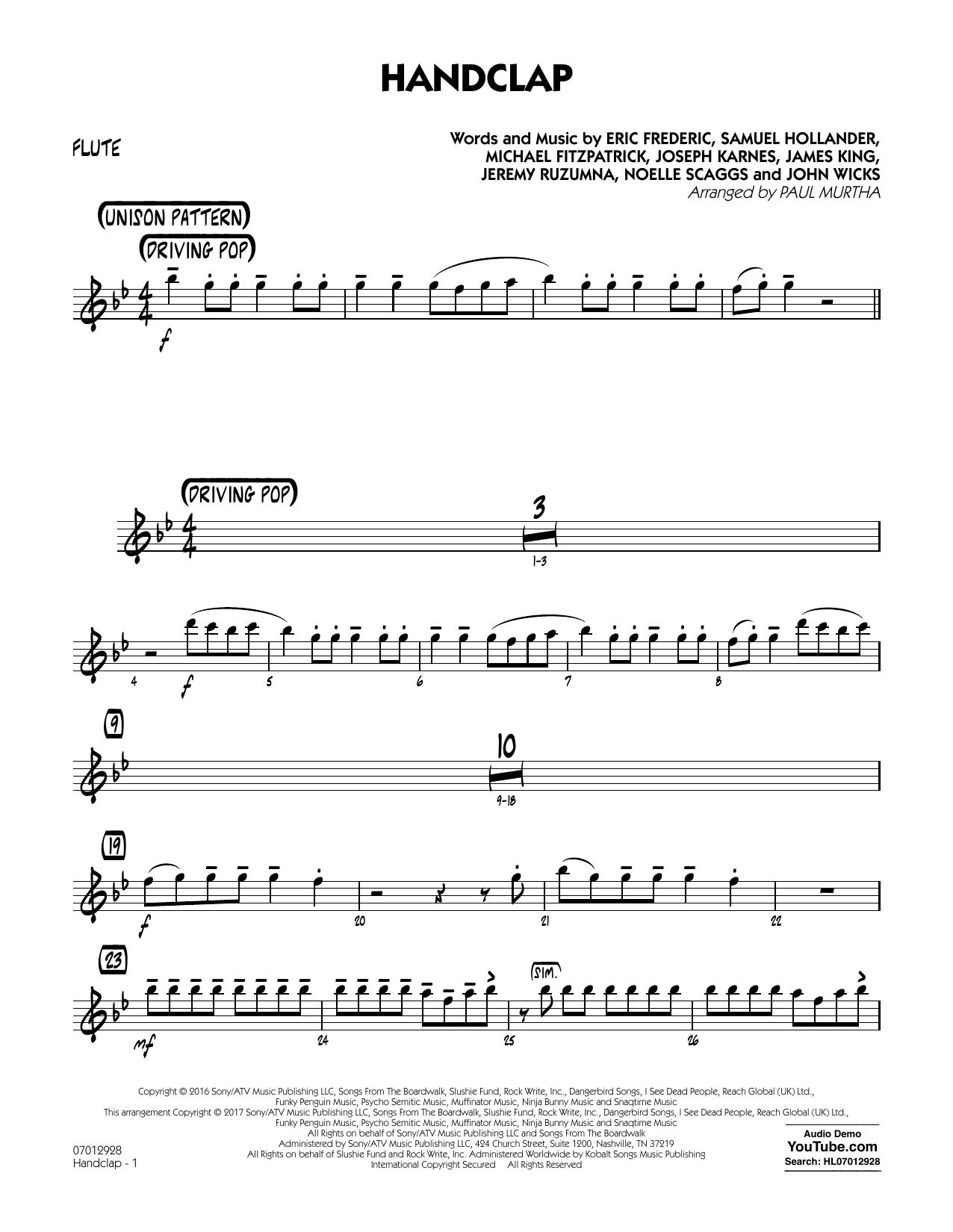 HandClap - Flute Partition Digitale