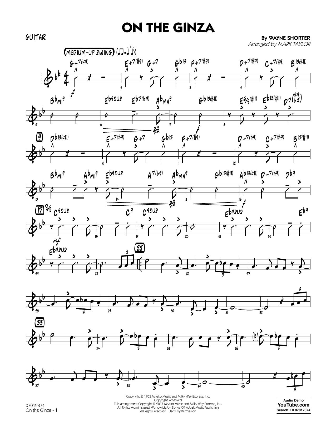 On The Ginza - Guitar (Jazz Ensemble)