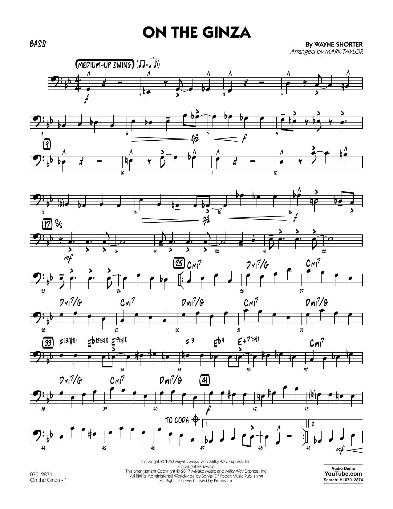 On The Ginza - Bass (Jazz Ensemble)