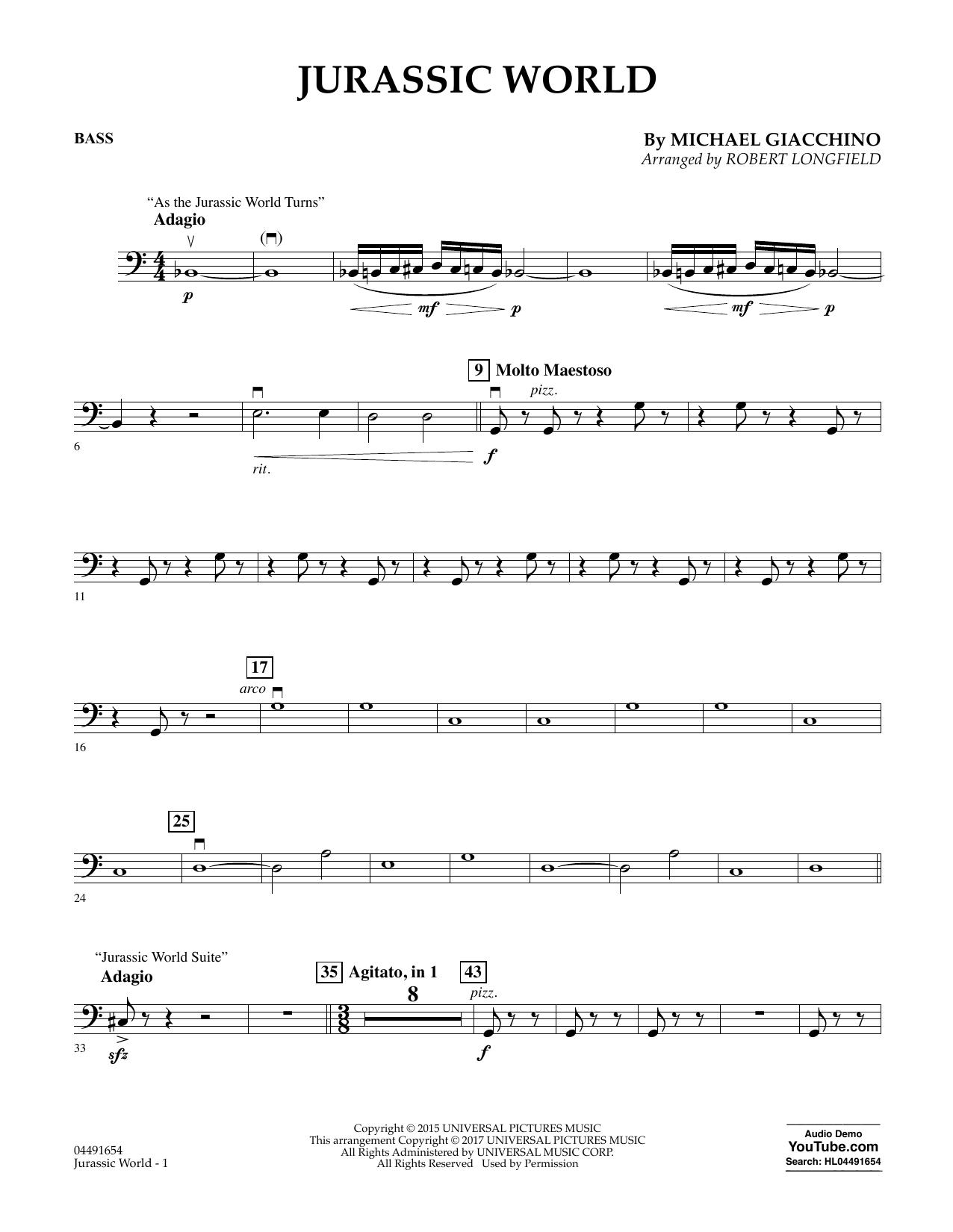 Jurassic World - Bass Sheet Music
