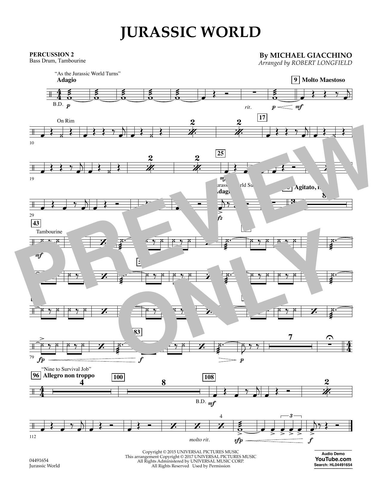 Jurassic World - Percussion 2 Sheet Music