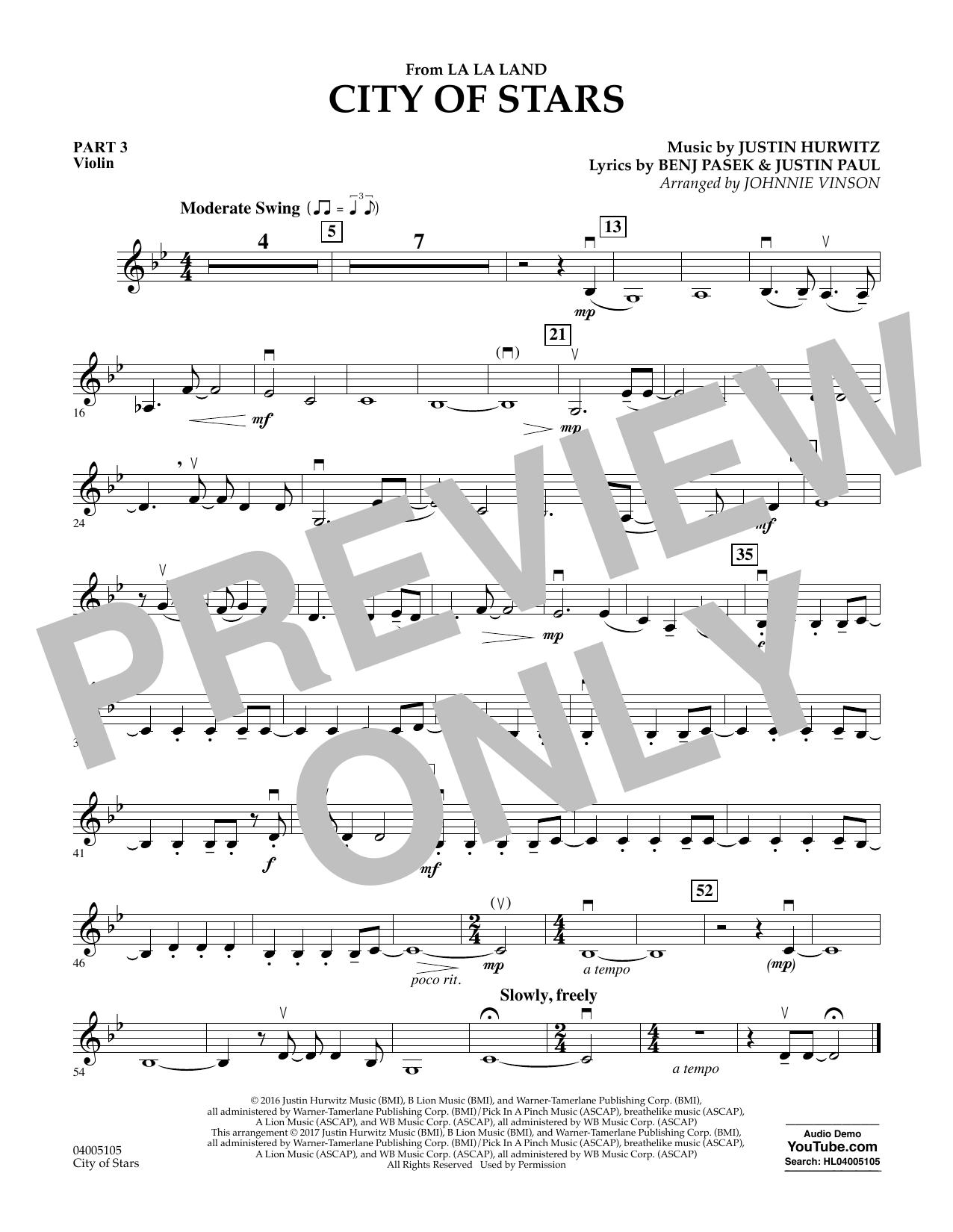 City of Stars (from La La Land) - Pt.3 - Violin (Flex-Band)
