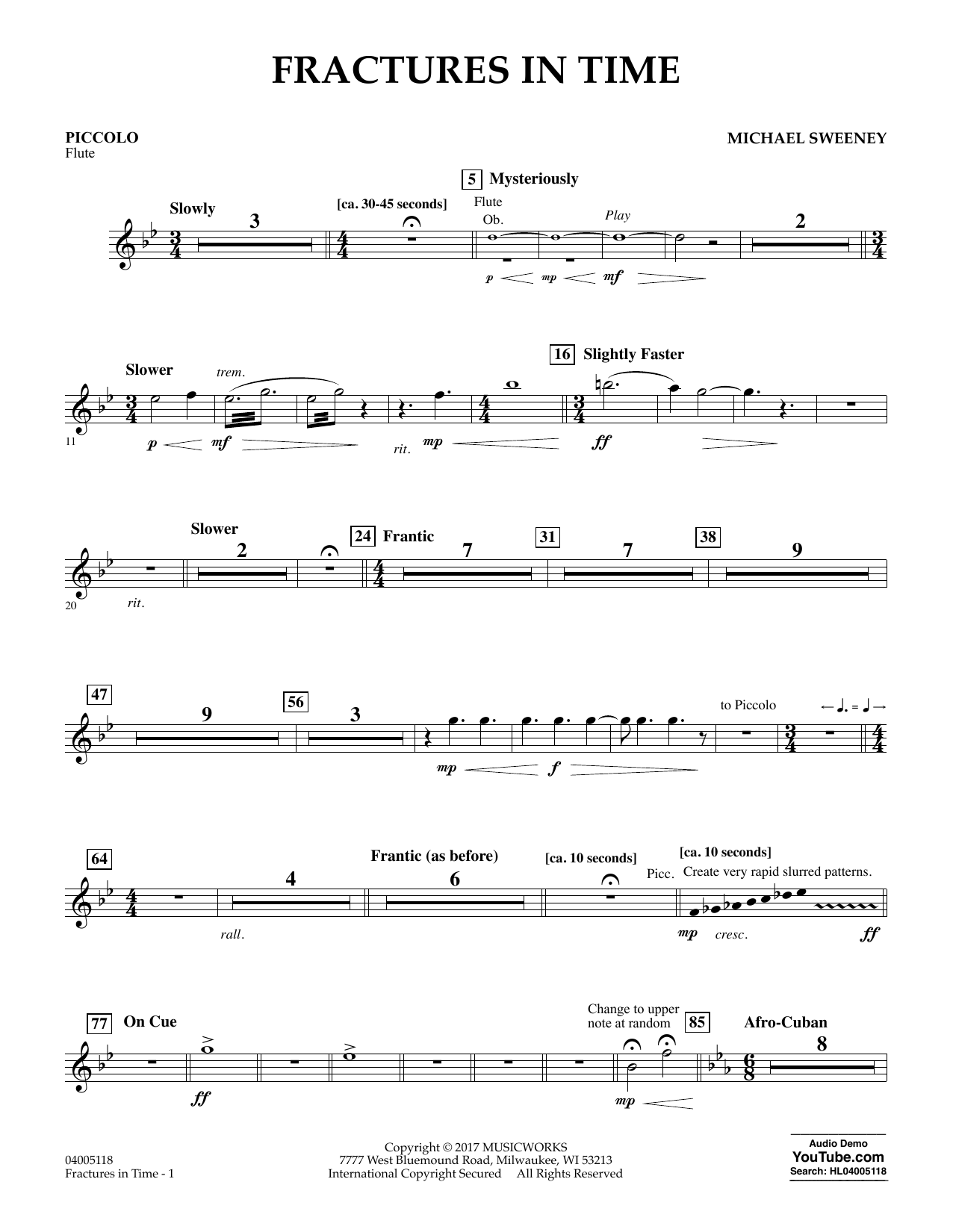 Fractures in Time - Piccolo/Flute 3 Sheet Music