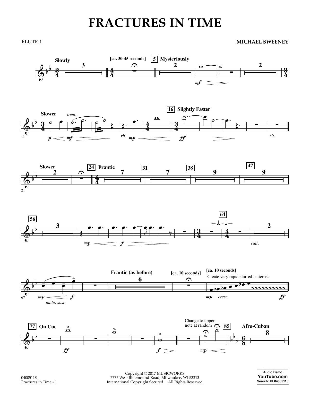 Fractures in Time - Flute 1 Sheet Music