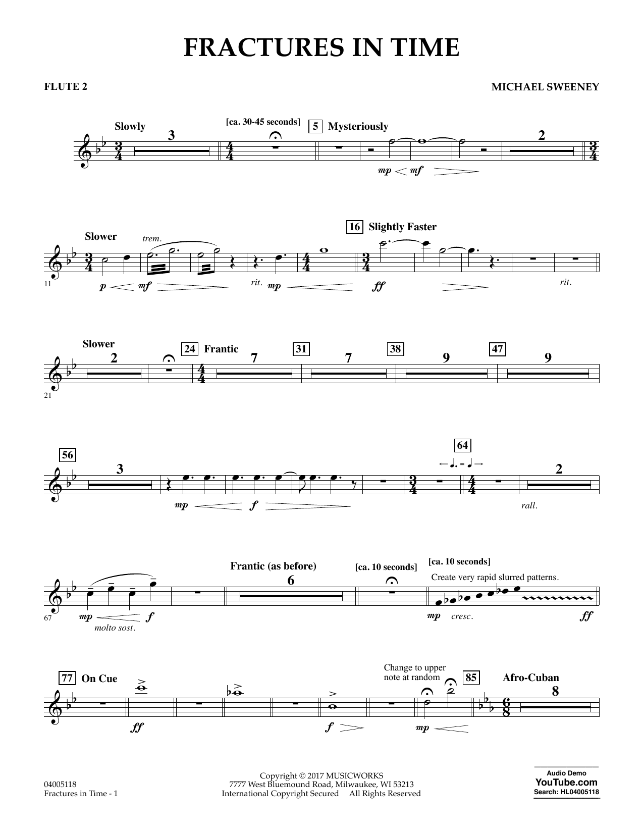 Fractures in Time - Flute 2 Sheet Music