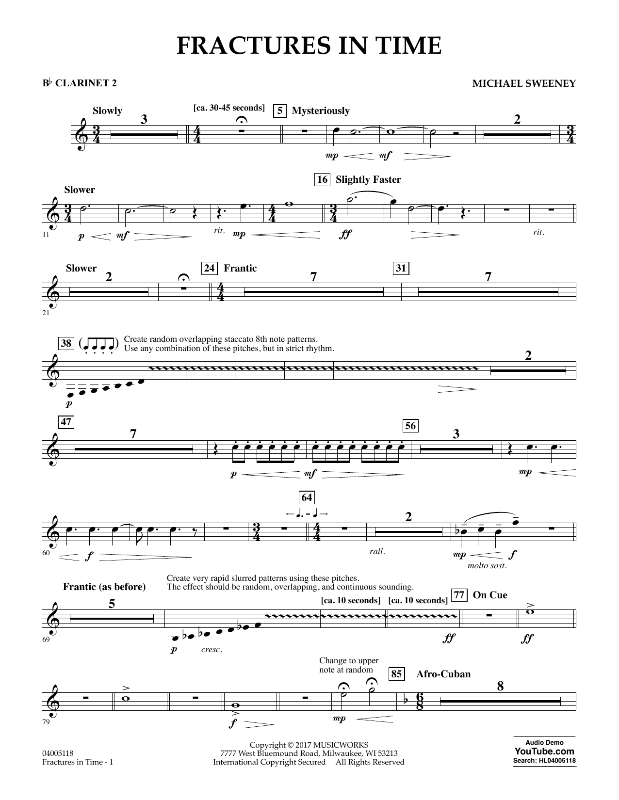 Fractures in Time - Bb Clarinet 2 Sheet Music