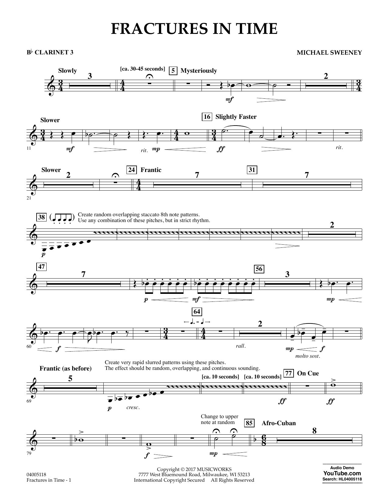 Fractures in Time - Bb Clarinet 3 Sheet Music