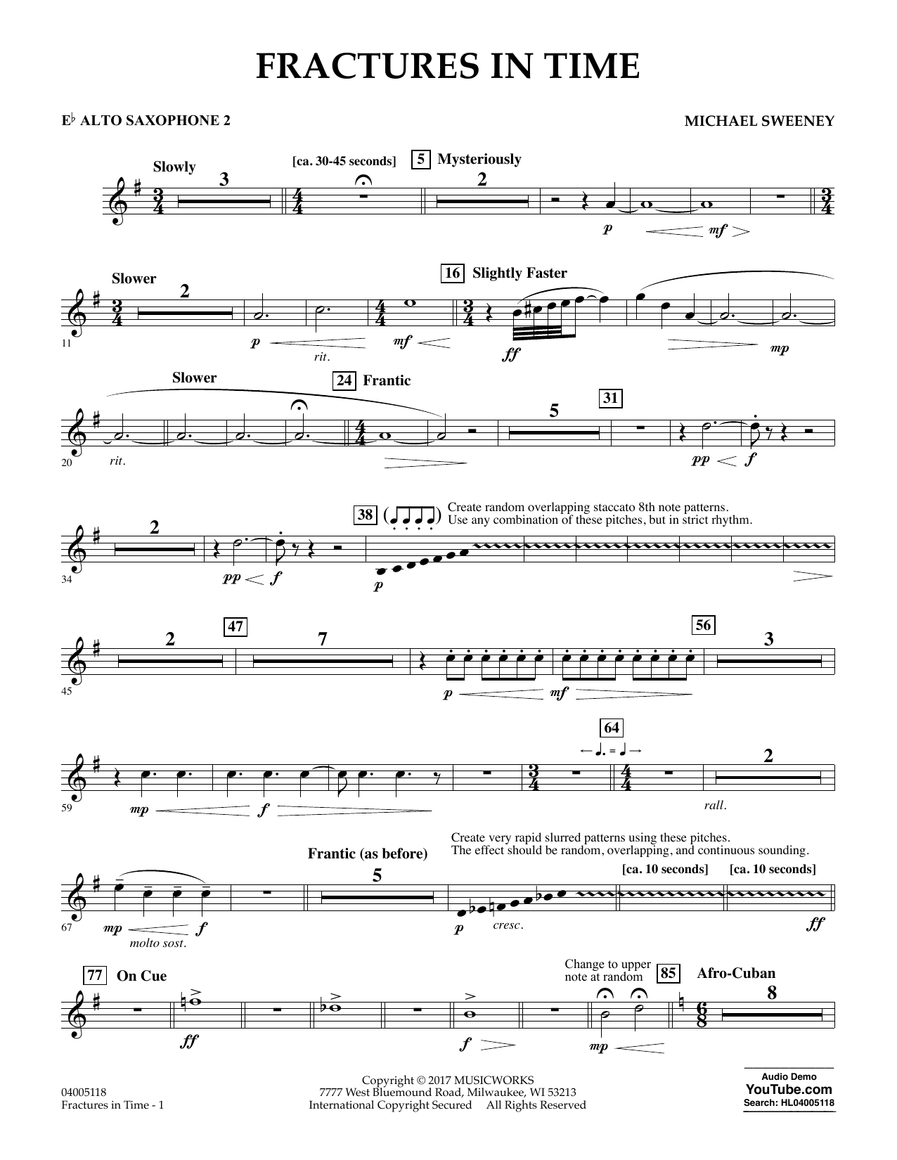 Fractures in Time - Eb Alto Saxophone 2 Sheet Music
