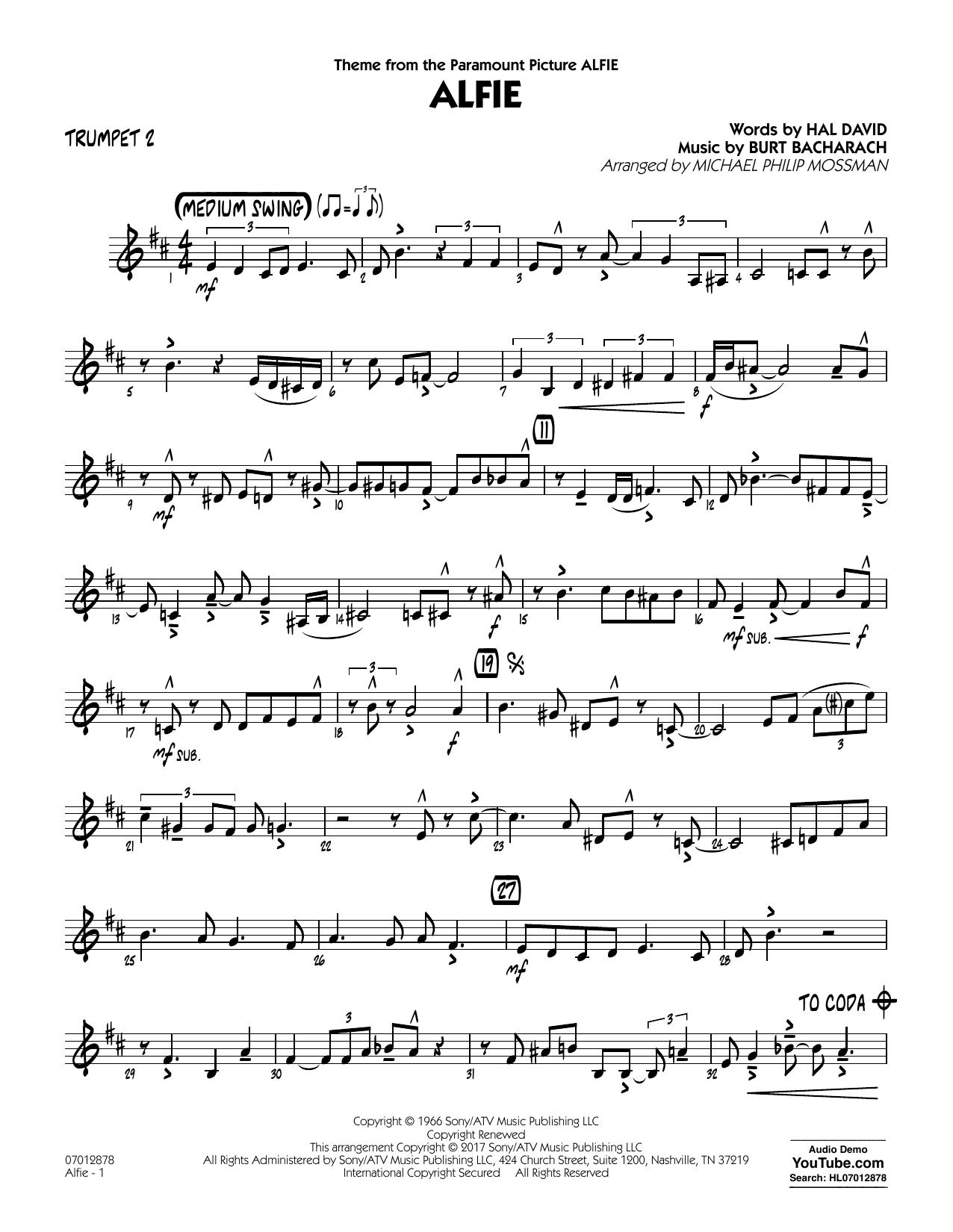 Alfie - Trumpet 2 (Jazz Ensemble)