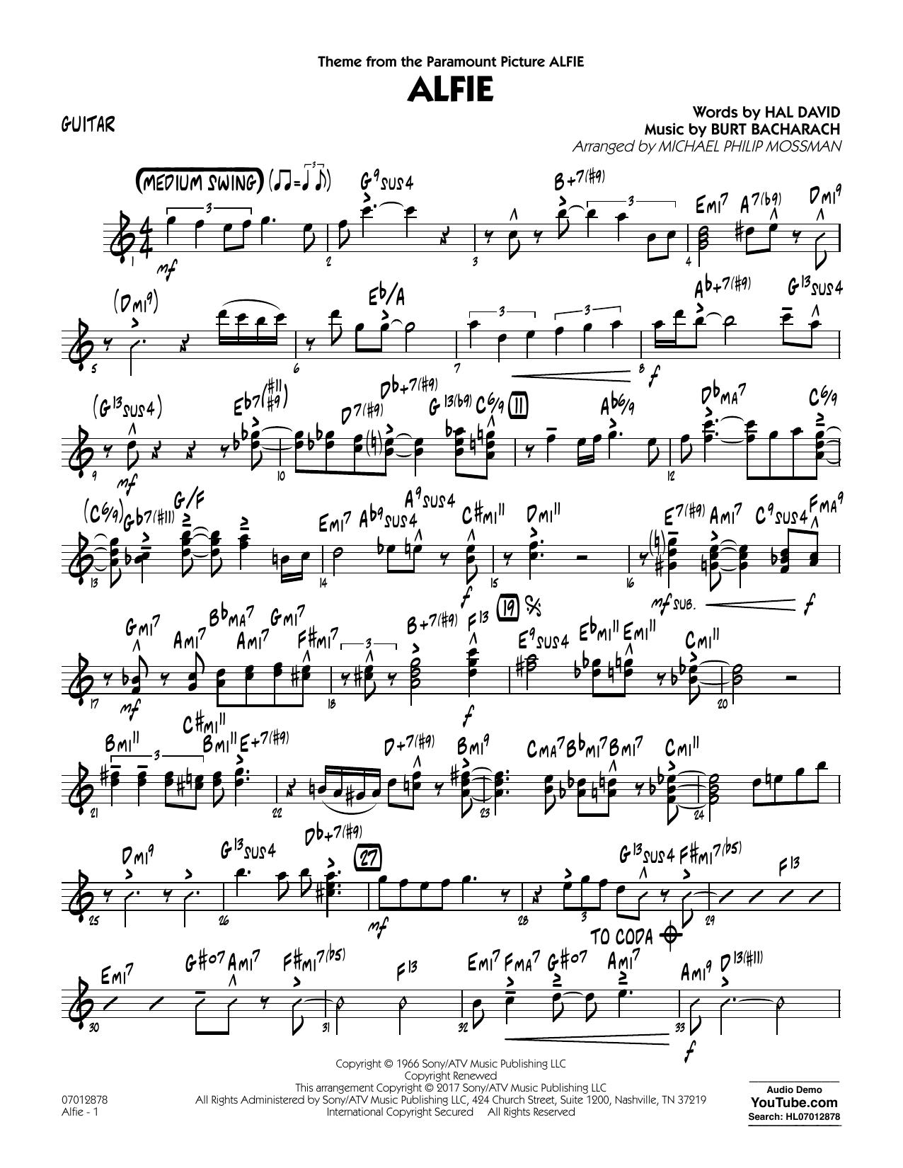 Alfie - Guitar (Jazz Ensemble)