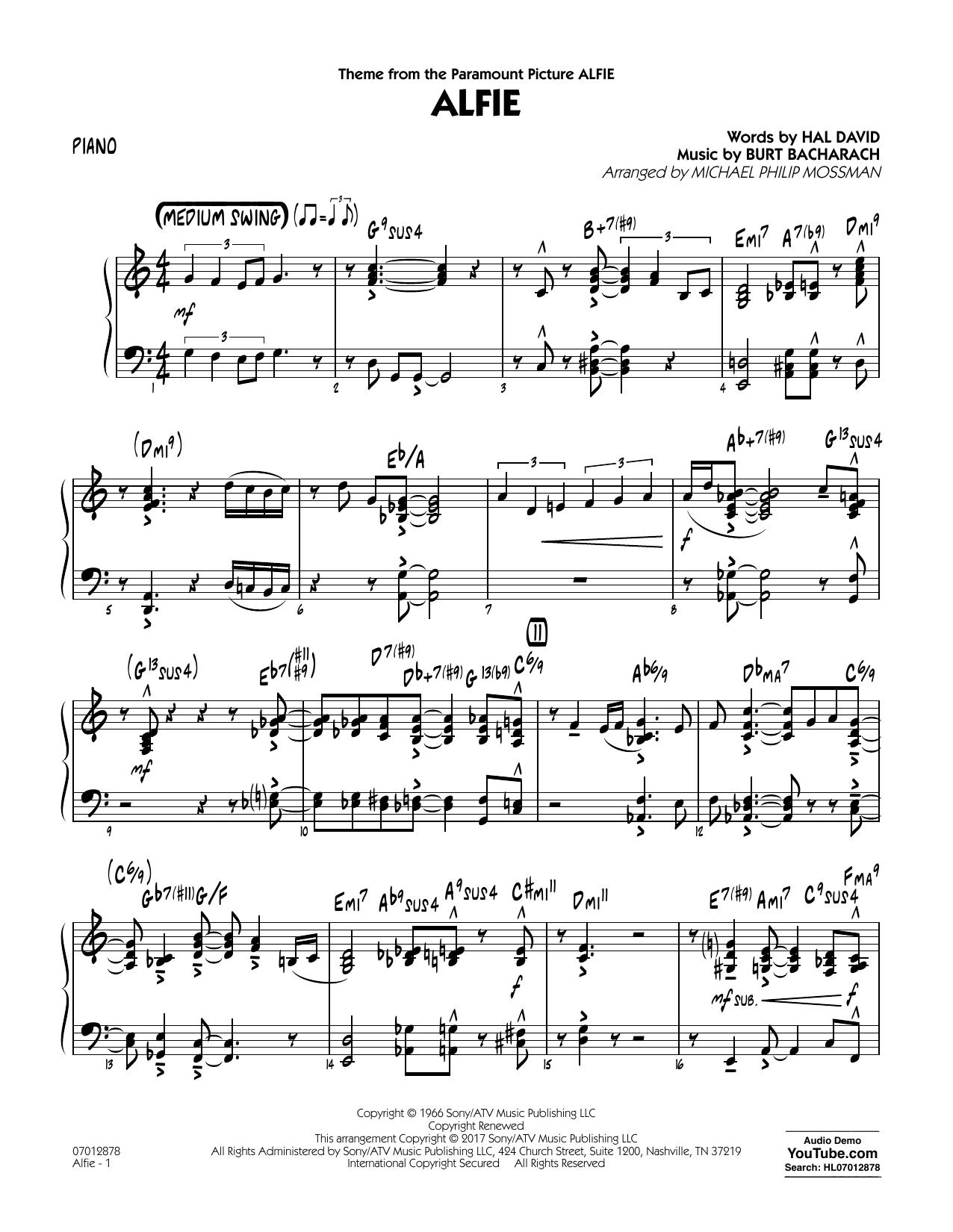 Alfie - Piano (Jazz Ensemble)