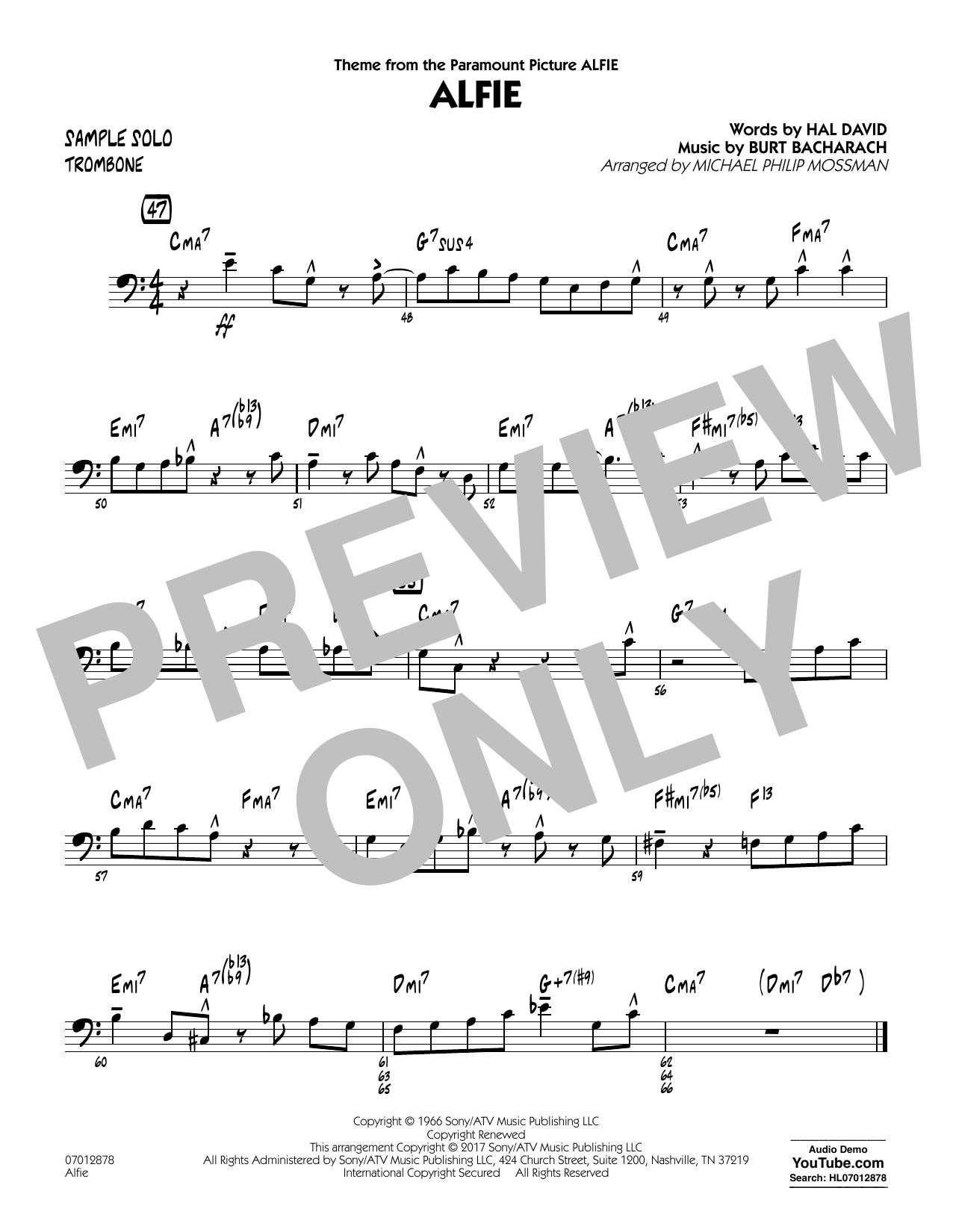 Alfie - Sample Solo - Trombone (Jazz Ensemble)