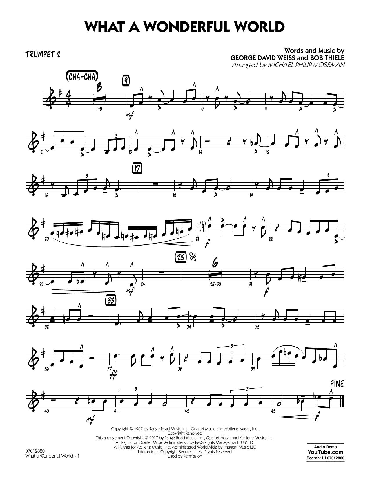 What A Wonderful World Dl - Trumpet 2 Sheet Music