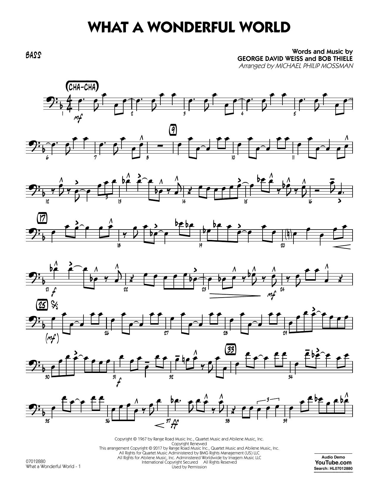 What A Wonderful World Dl - Bass (Jazz Ensemble)