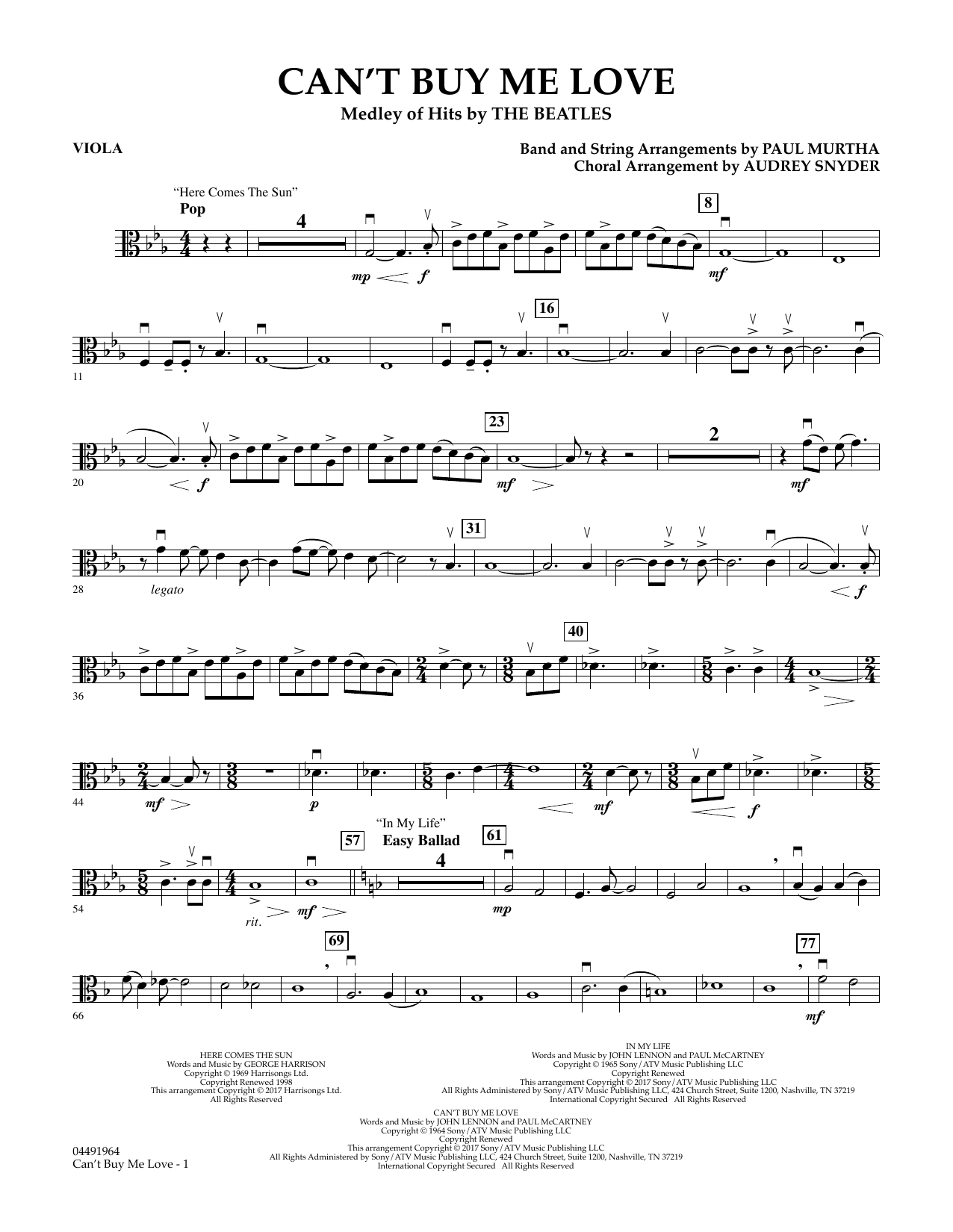 Can't Buy Me Love - Viola Sheet Music
